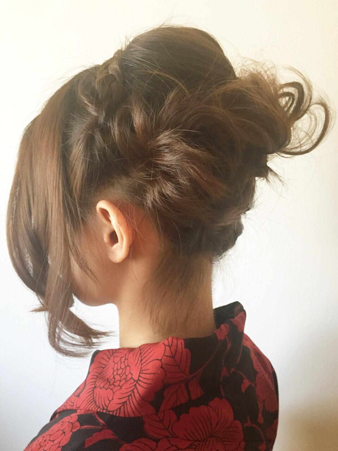 ヘアアレンジ 和装 ボブ 夏 ヘアスタイルや髪型の写真・画像