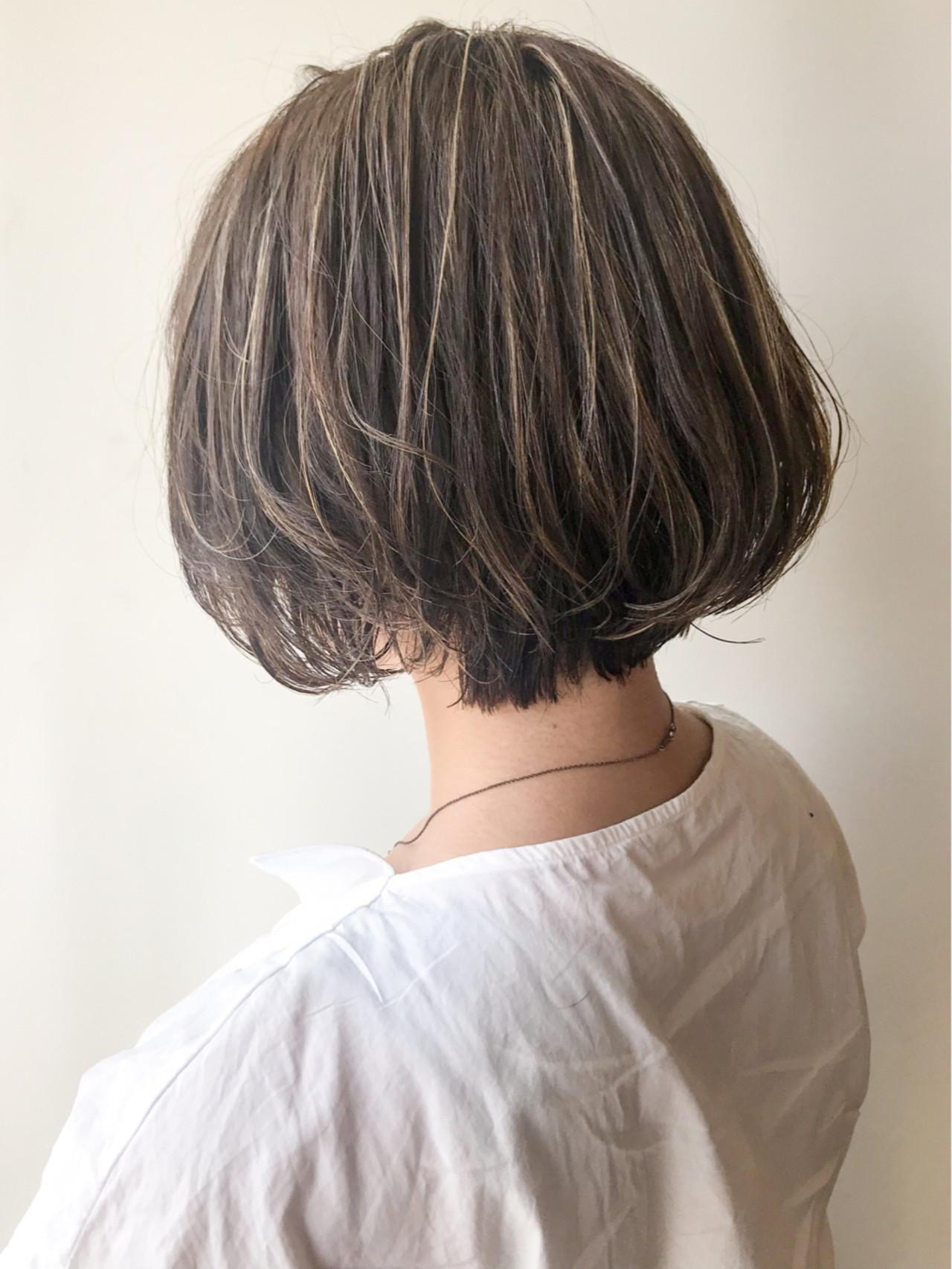 コンサバ オフィス ボブ ショートボブ ヘアスタイルや髪型の写真・画像 | HIROKI / roijir / roijir
