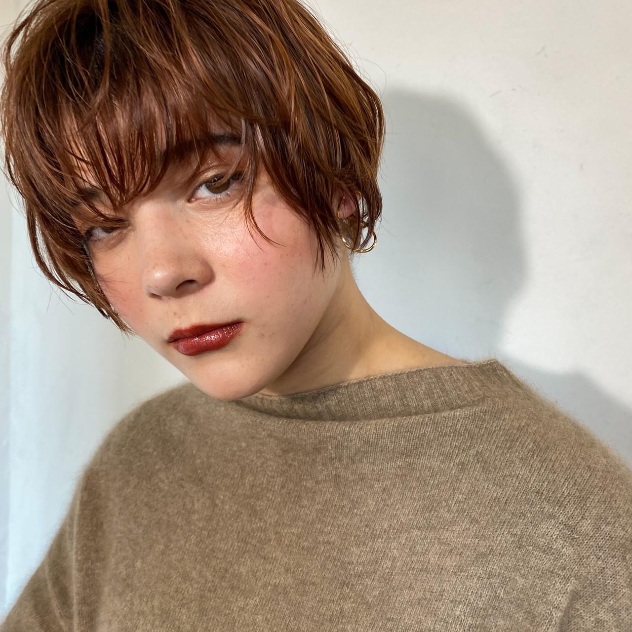 大人可愛い フェミニン ショートヘア 前髪 ヘアスタイルや髪型の写真・画像