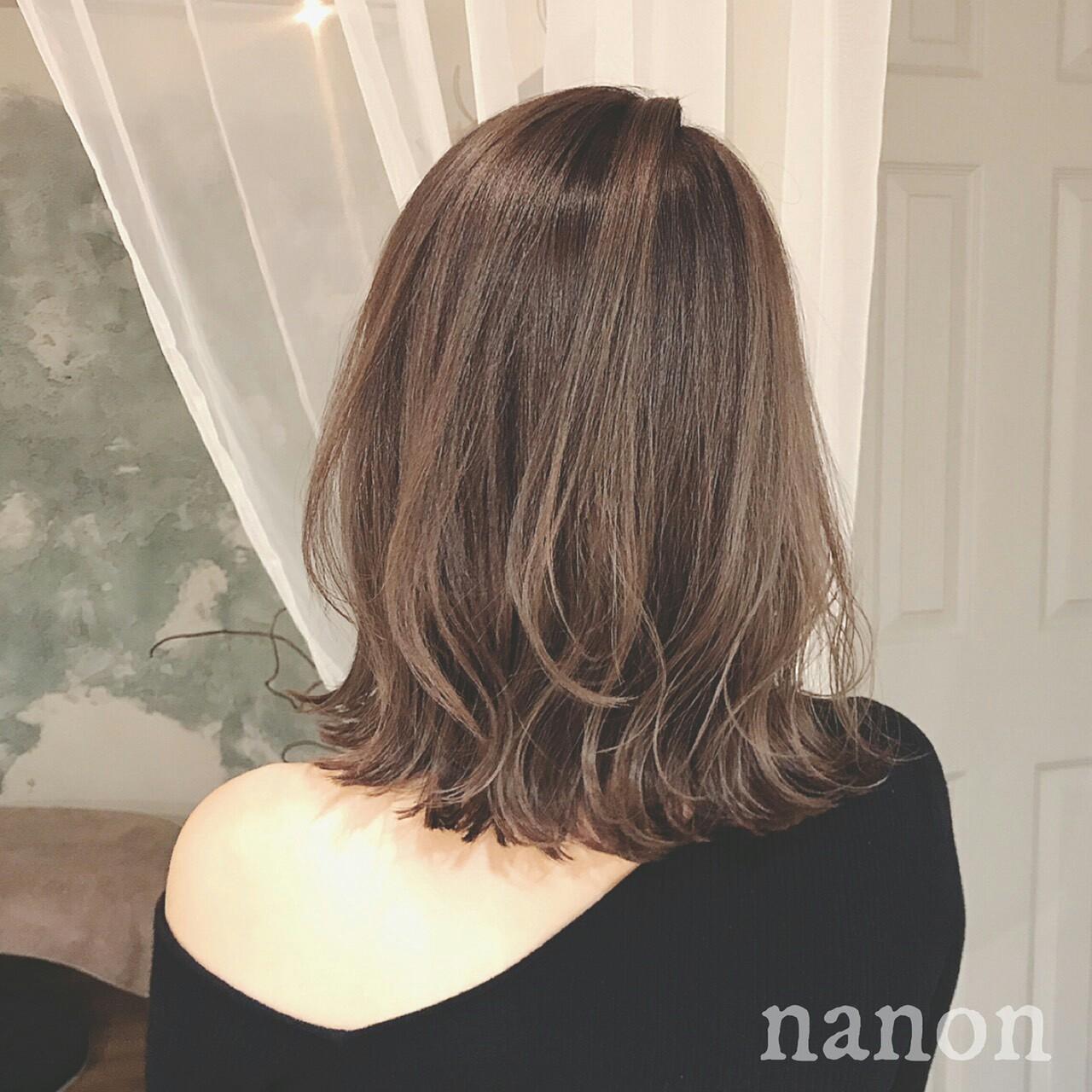 エレガント グラデーションカラー 冬 大人かわいい ヘアスタイルや髪型の写真・画像 | 浦川由起江 / nanon