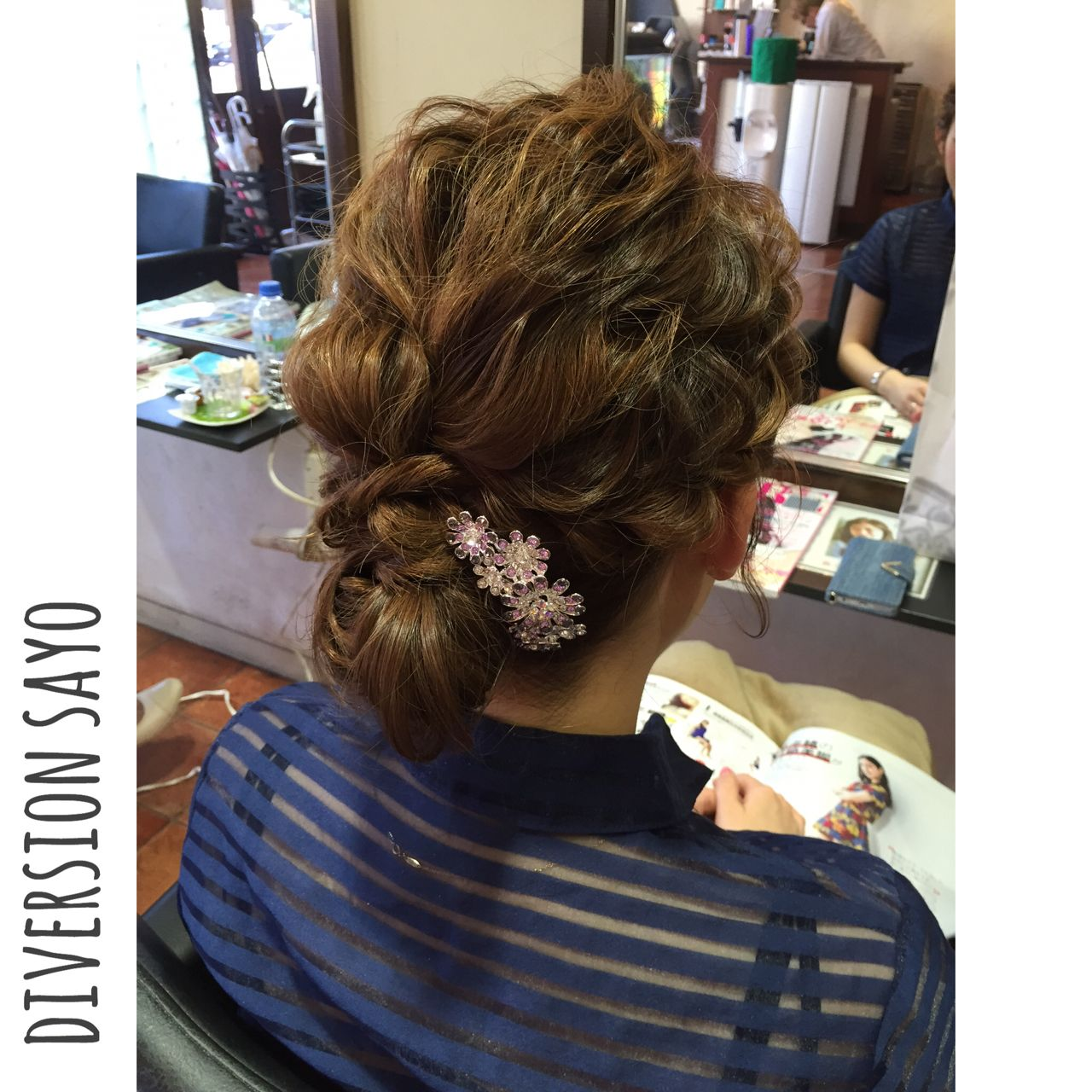 まとめ髪 ヘアアレンジ 編み込み 和装 ヘアスタイルや髪型の写真・画像   和田 早代 / Diversion