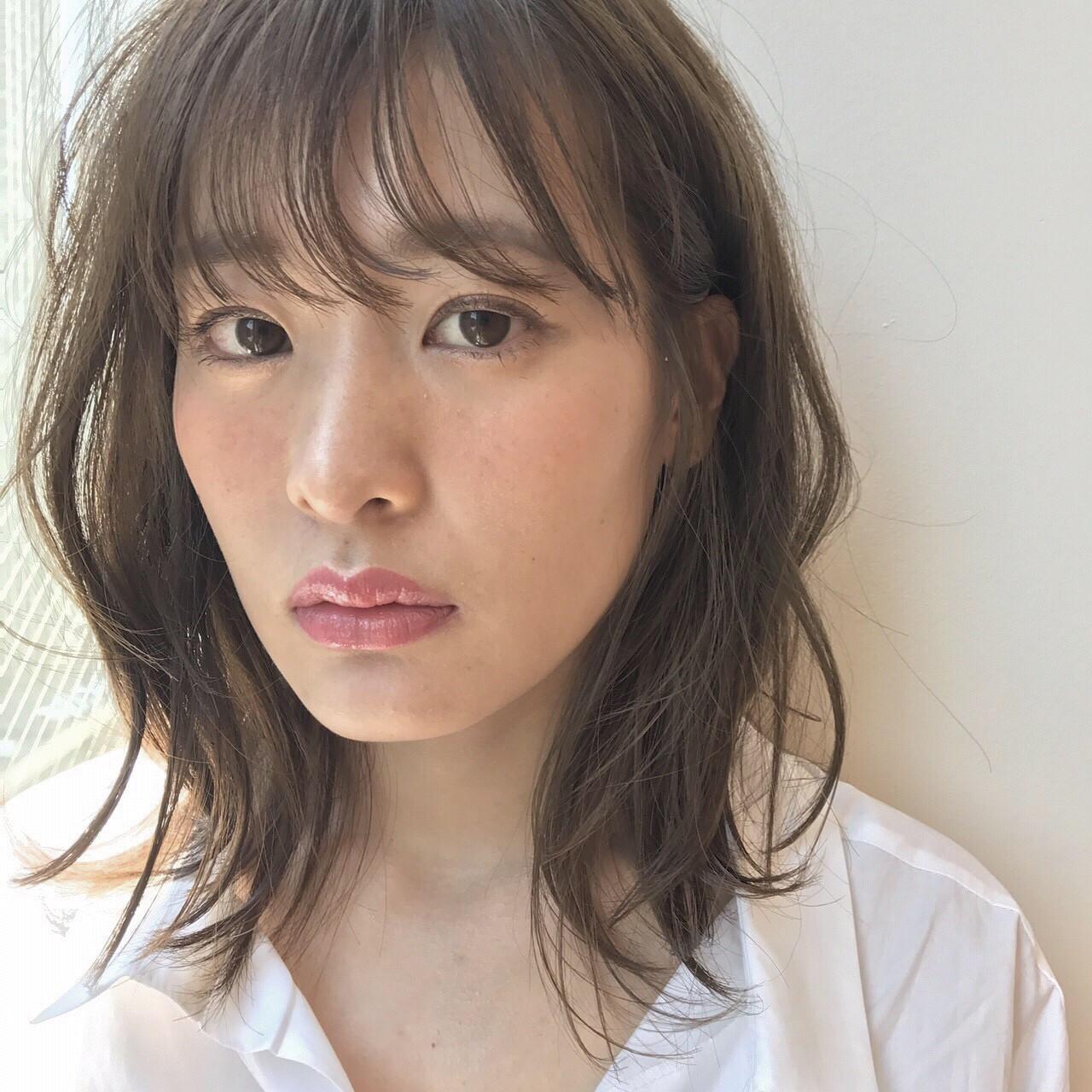 ナチュラル可愛い ミディアム ナチュラルベージュ ナチュラル ヘアスタイルや髪型の写真・画像 | 坂本圭太朗 / bado