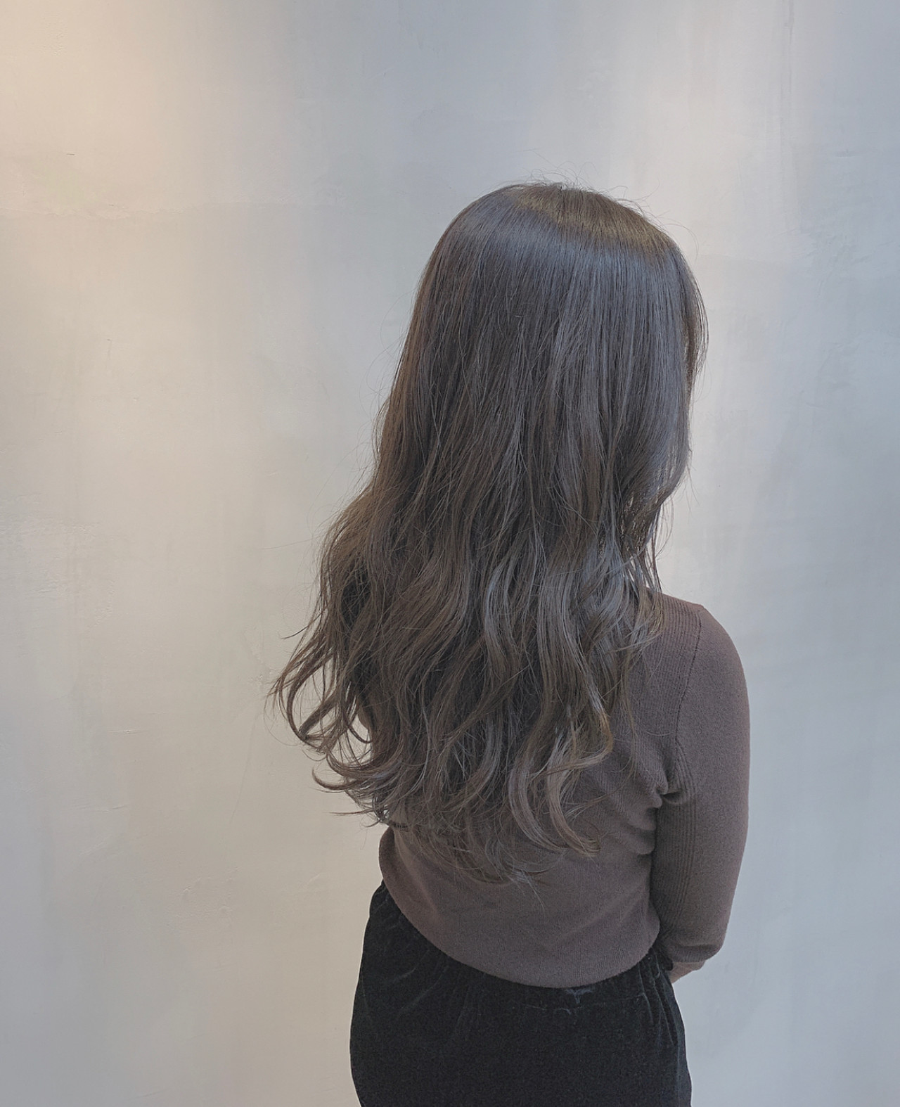 セミロング 透明感カラー ブルージュ ナチュラル ヘアスタイルや髪型の写真・画像