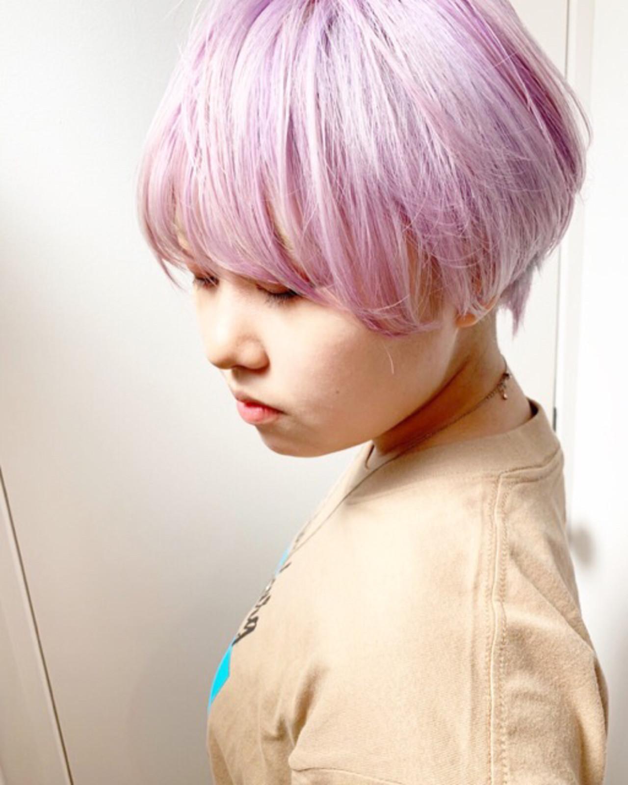 ピンクブラウン ピンクアッシュ ベリーピンク ラズベリーピンク ヘアスタイルや髪型の写真・画像