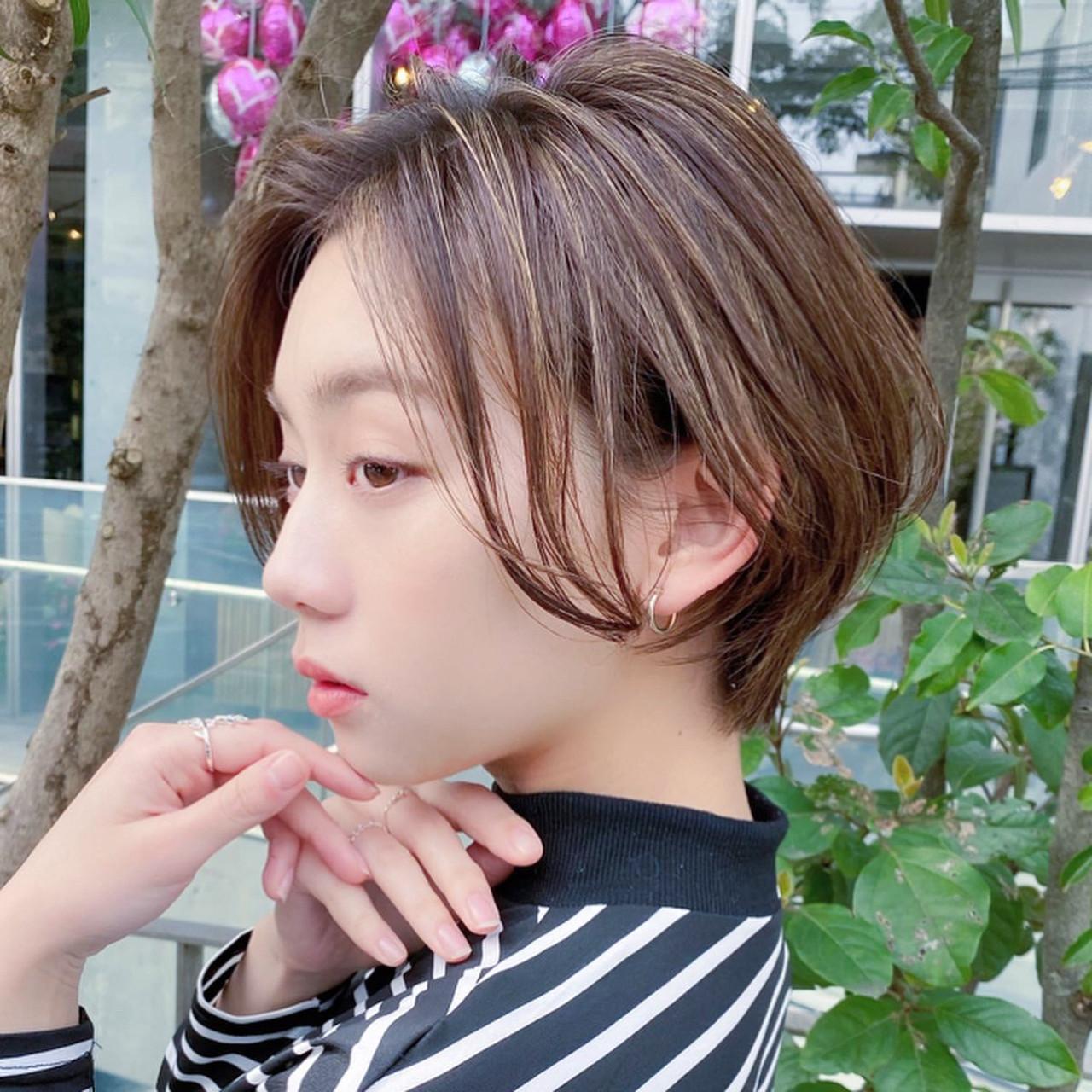 ショートボブ ショートヘア アンニュイほつれヘア ボブ ヘアスタイルや髪型の写真・画像 | 趙 英来 (よん) / nex