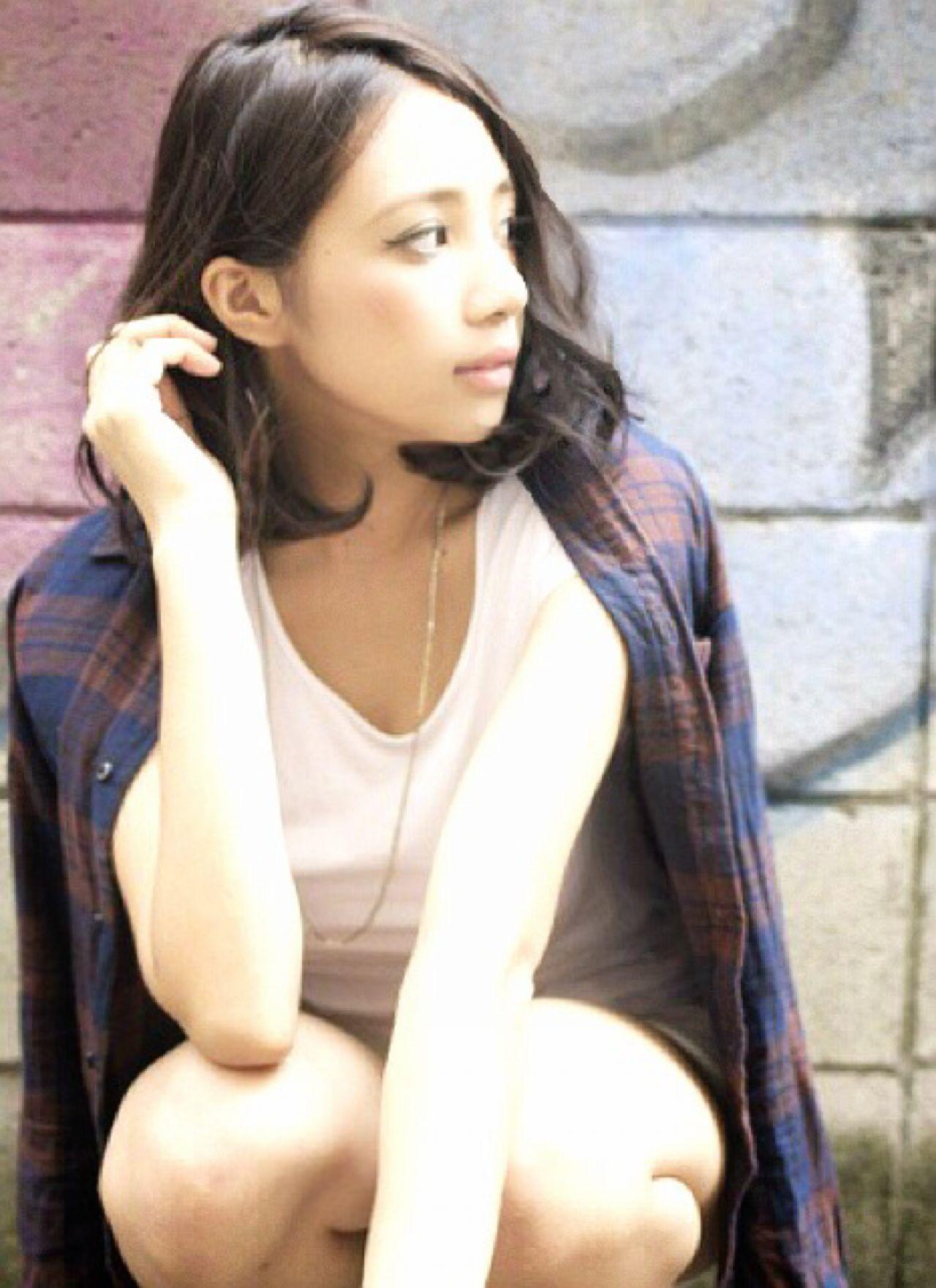 グラデーションカラー 外国人風 ストリート 秋 ヘアスタイルや髪型の写真・画像   Garu chan /