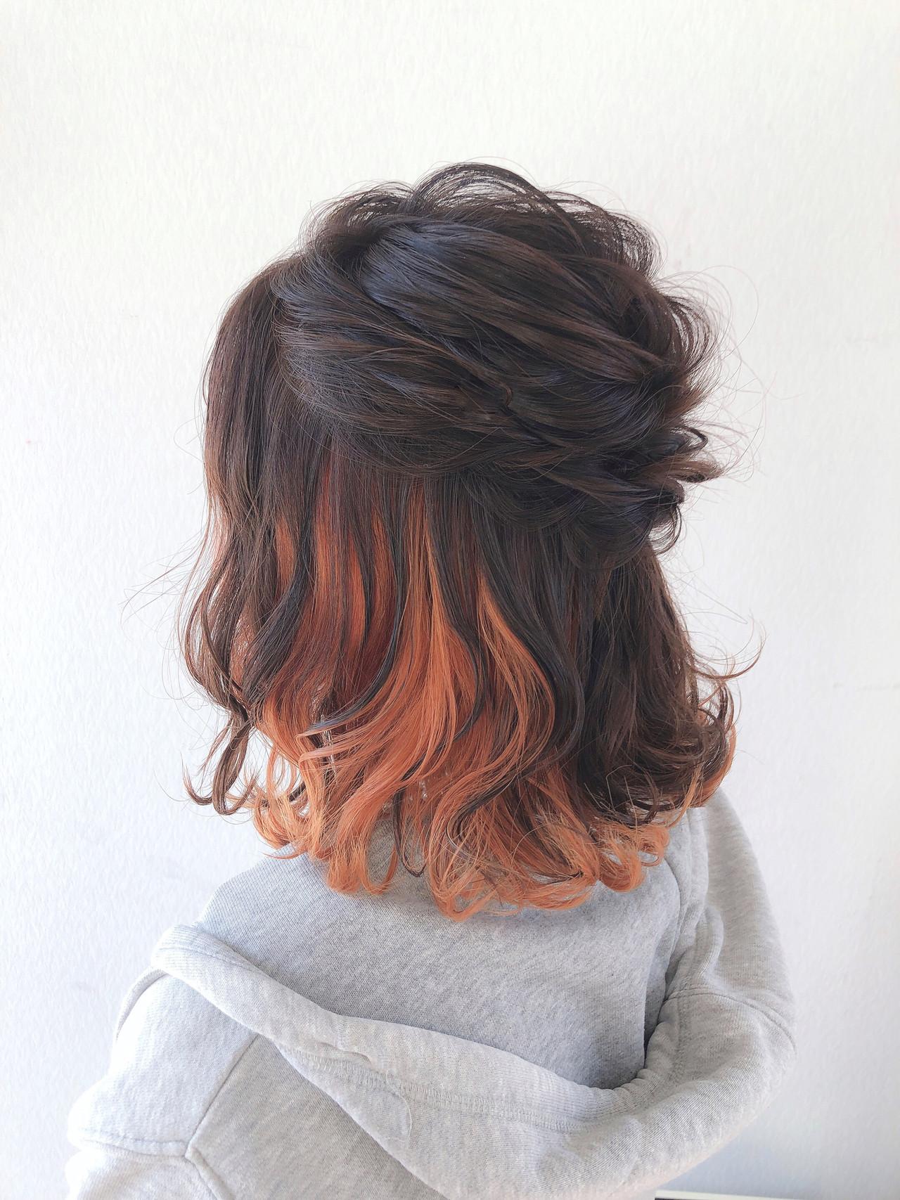 外ハネボブ ヘアアレンジ 結婚式ヘアアレンジ ボブ ヘアスタイルや髪型の写真・画像   ヤマナカサトル / DIOR of Hair