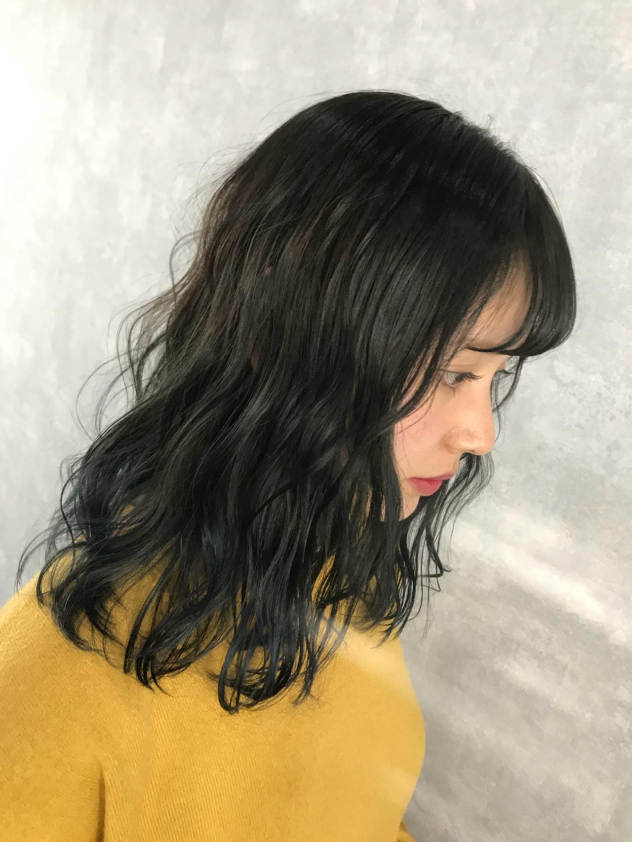 グラデーションカラー インナーカラー ハイライト ストリート ヘアスタイルや髪型の写真・画像