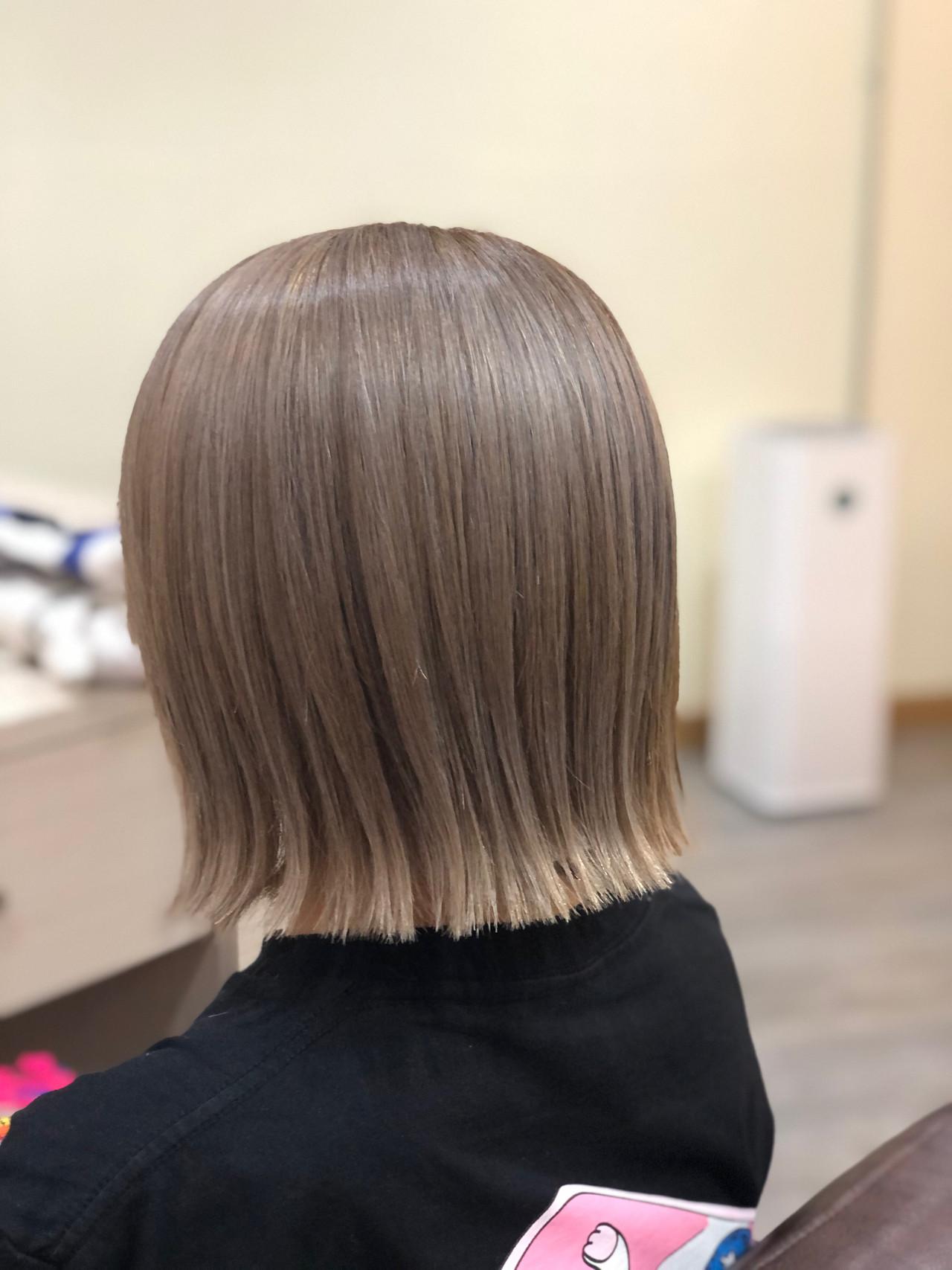 ミディアム ガーリー ブリーチ必須 ブリーチオンカラー ヘアスタイルや髪型の写真・画像   Kyoko / hair salon