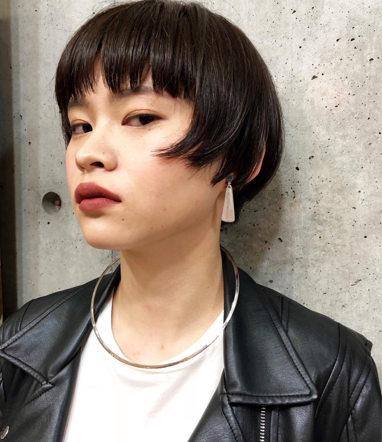 ショート モード ボブ ベリーショート ヘアスタイルや髪型の写真・画像 | MIKIZO / merci (メルシー)