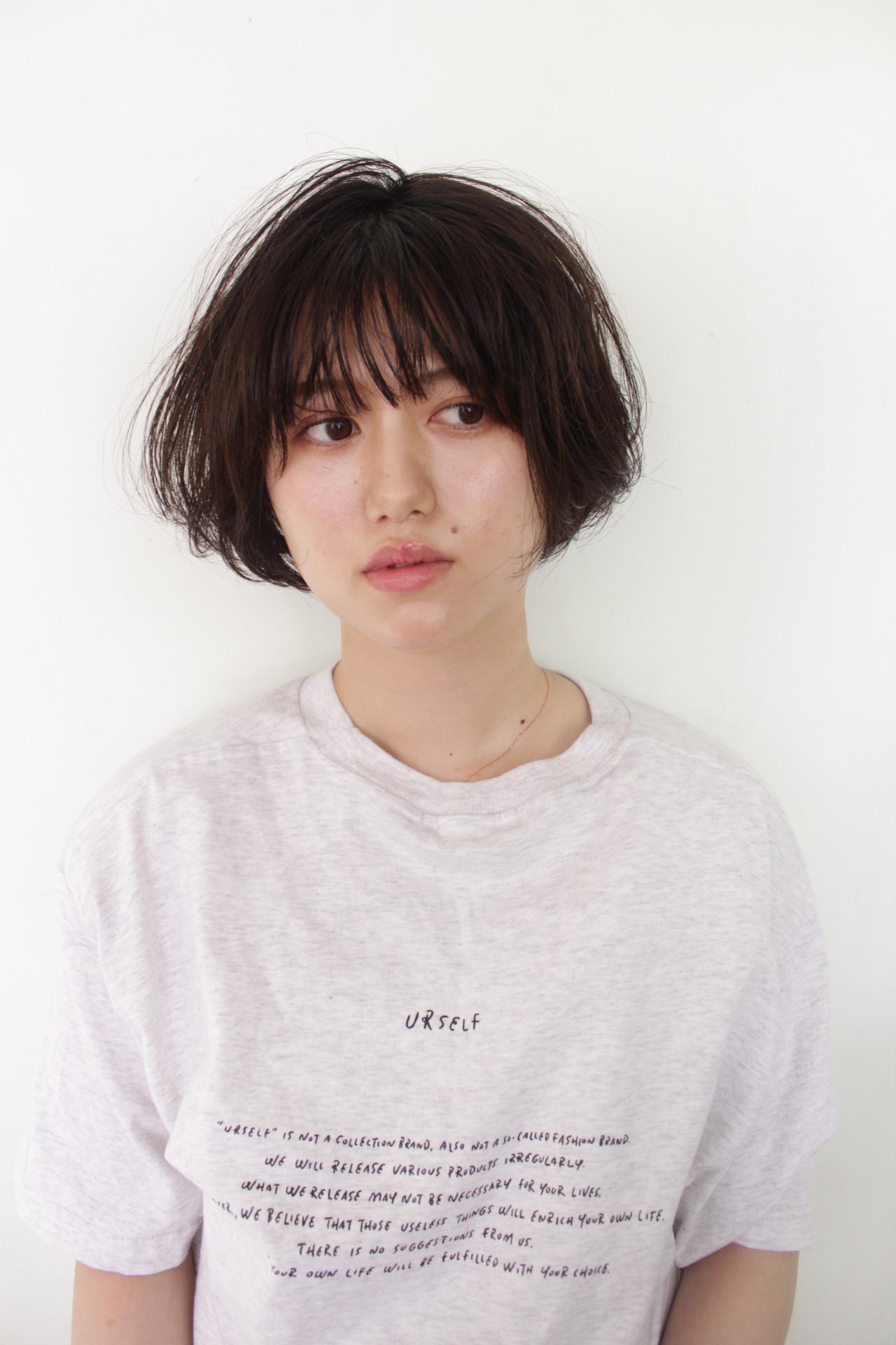 ハンサムショート ショートボブ ミニボブ ショートヘア ヘアスタイルや髪型の写真・画像 | コウムラリュウスケ / b+naka