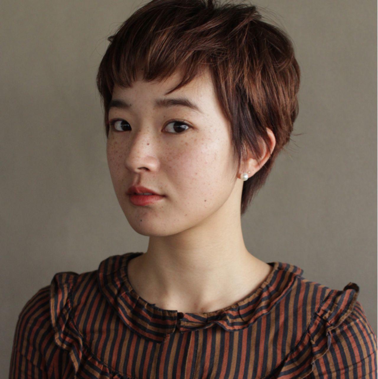 耳かけ ショート 束感 ウェットヘア ヘアスタイルや髪型の写真・画像   佐野 正人 / nanuk / nanuk