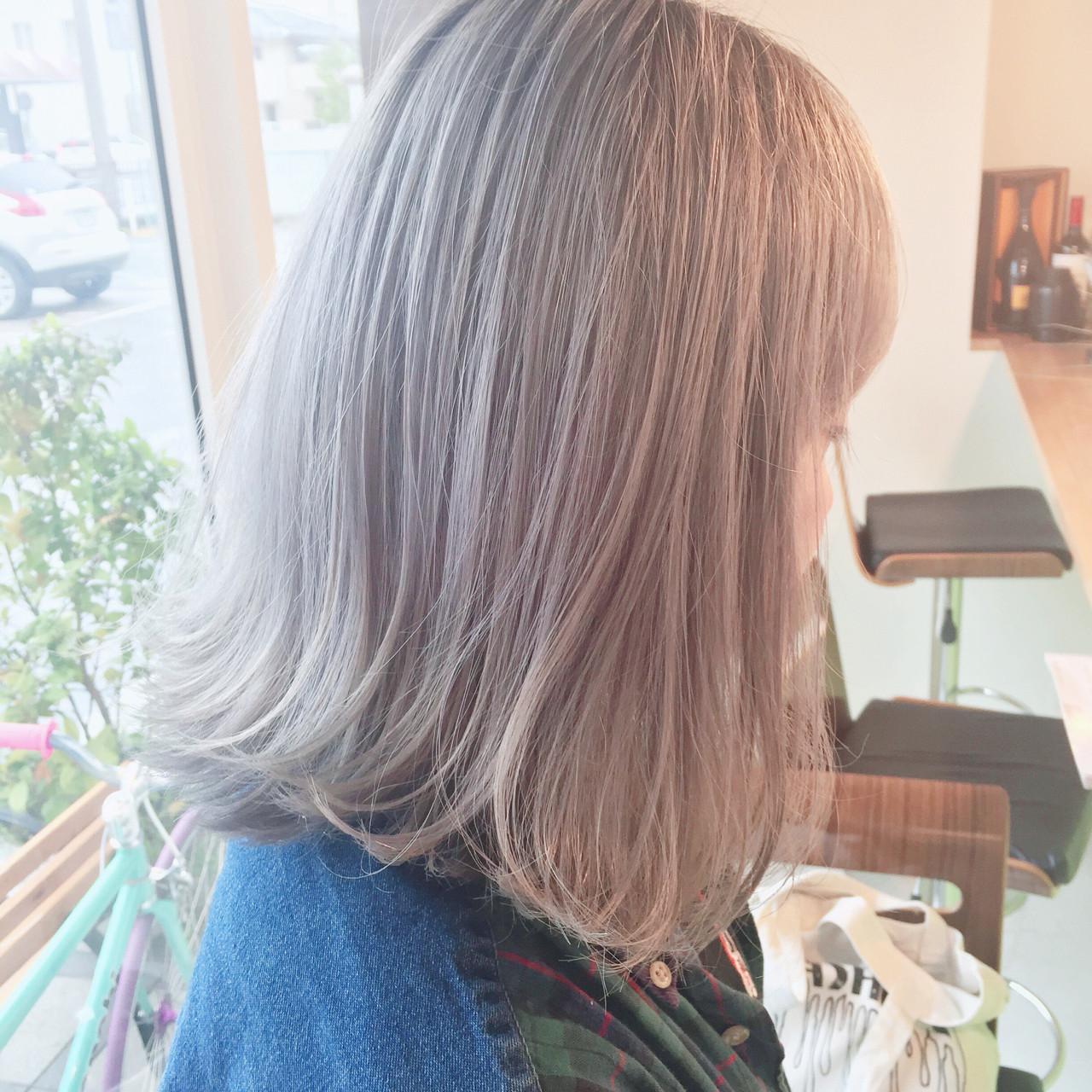 グラデーションカラー ハイトーン ホワイト 外国人風 ヘアスタイルや髪型の写真・画像 | 原木翔太 / lufun hair design  ルファン