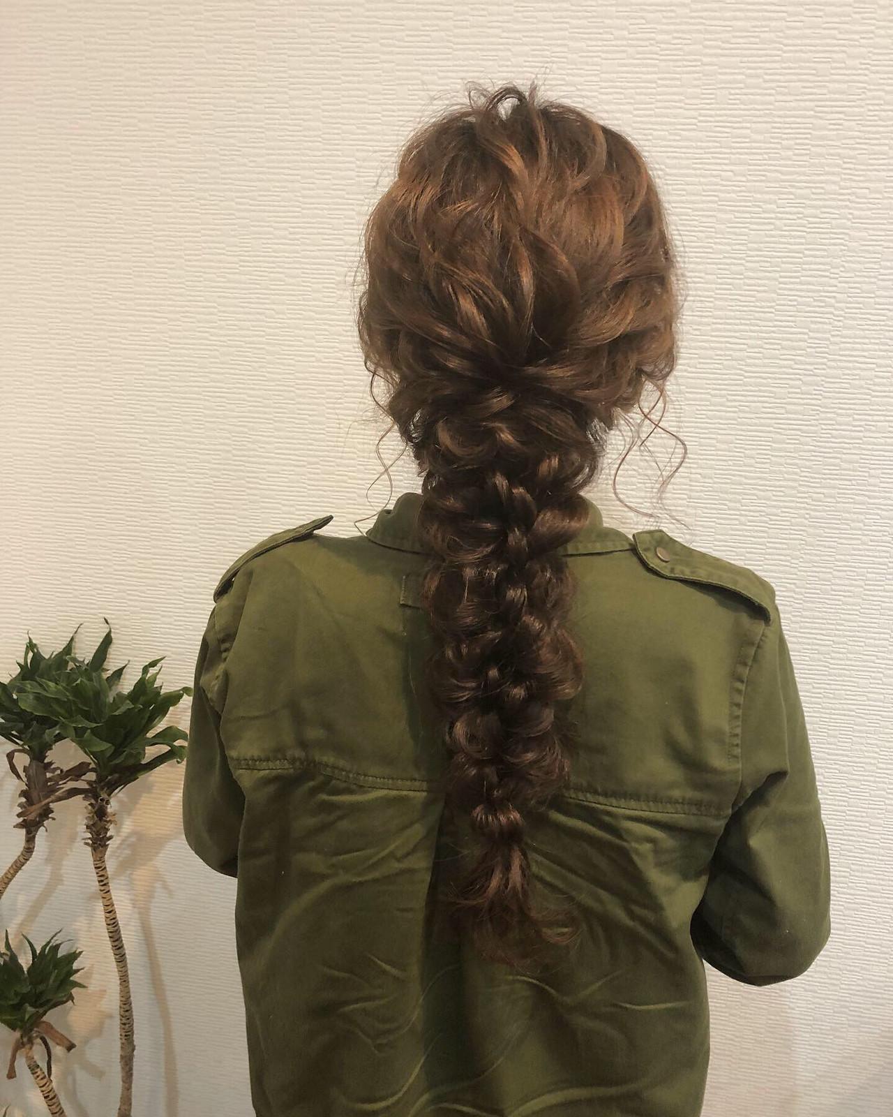 結婚式 結婚式ヘアアレンジ フェミニン 編みおろしヘア ヘアスタイルや髪型の写真・画像