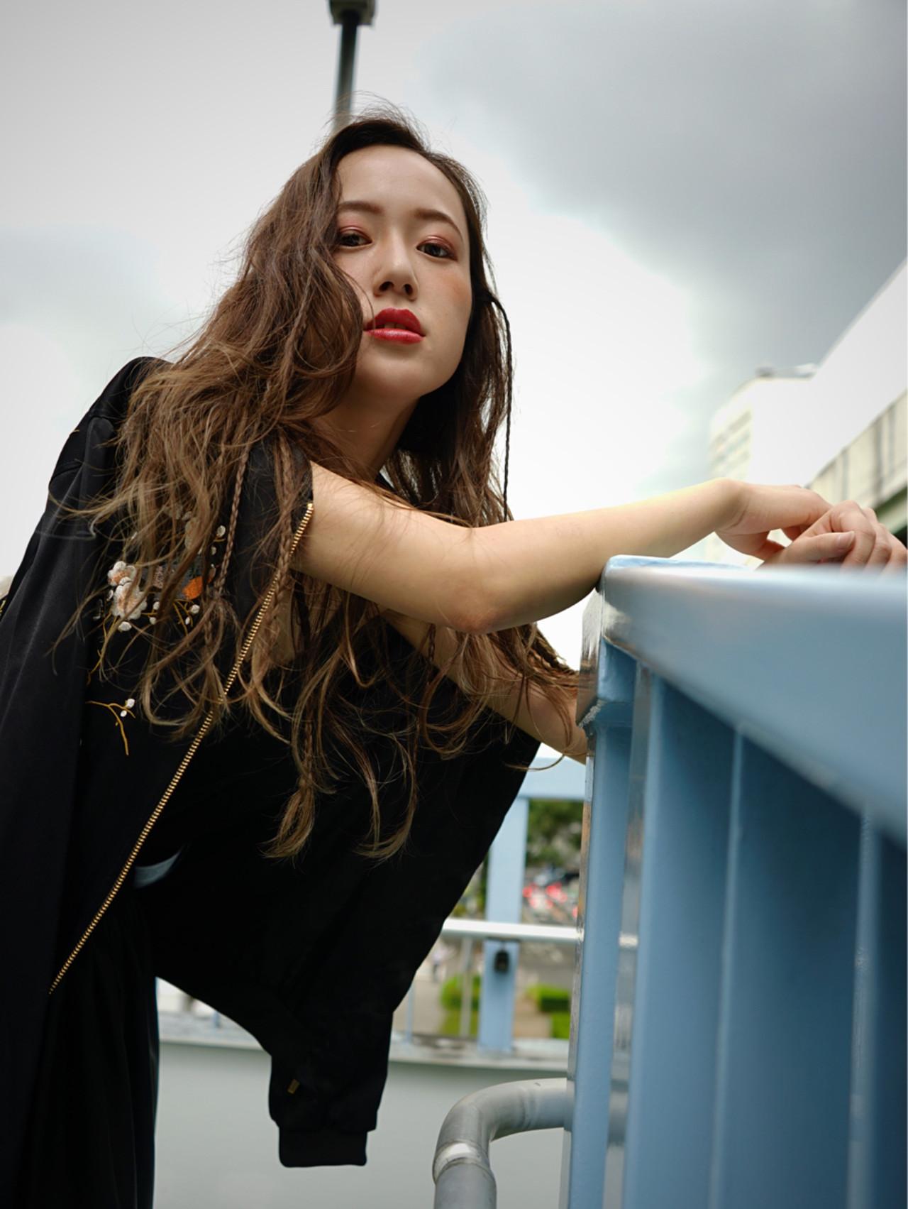 ローライト ハイライト ロング 外国人風 ヘアスタイルや髪型の写真・画像