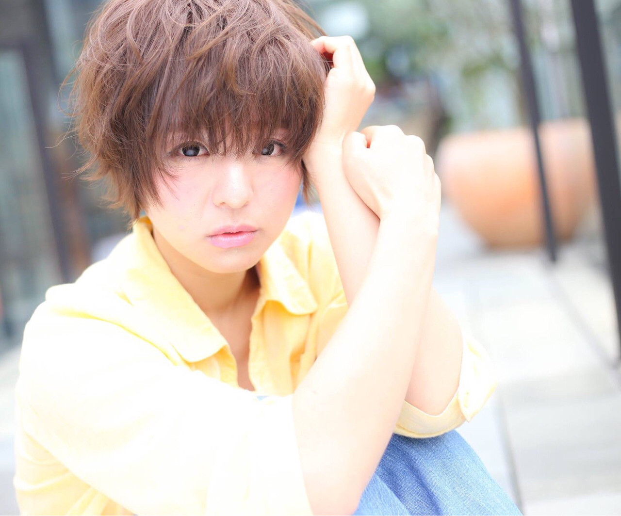 モテ髪 ナチュラル パーマ ボブ ヘアスタイルや髪型の写真・画像 | 梅澤勇人 / DAMIA by LuLu