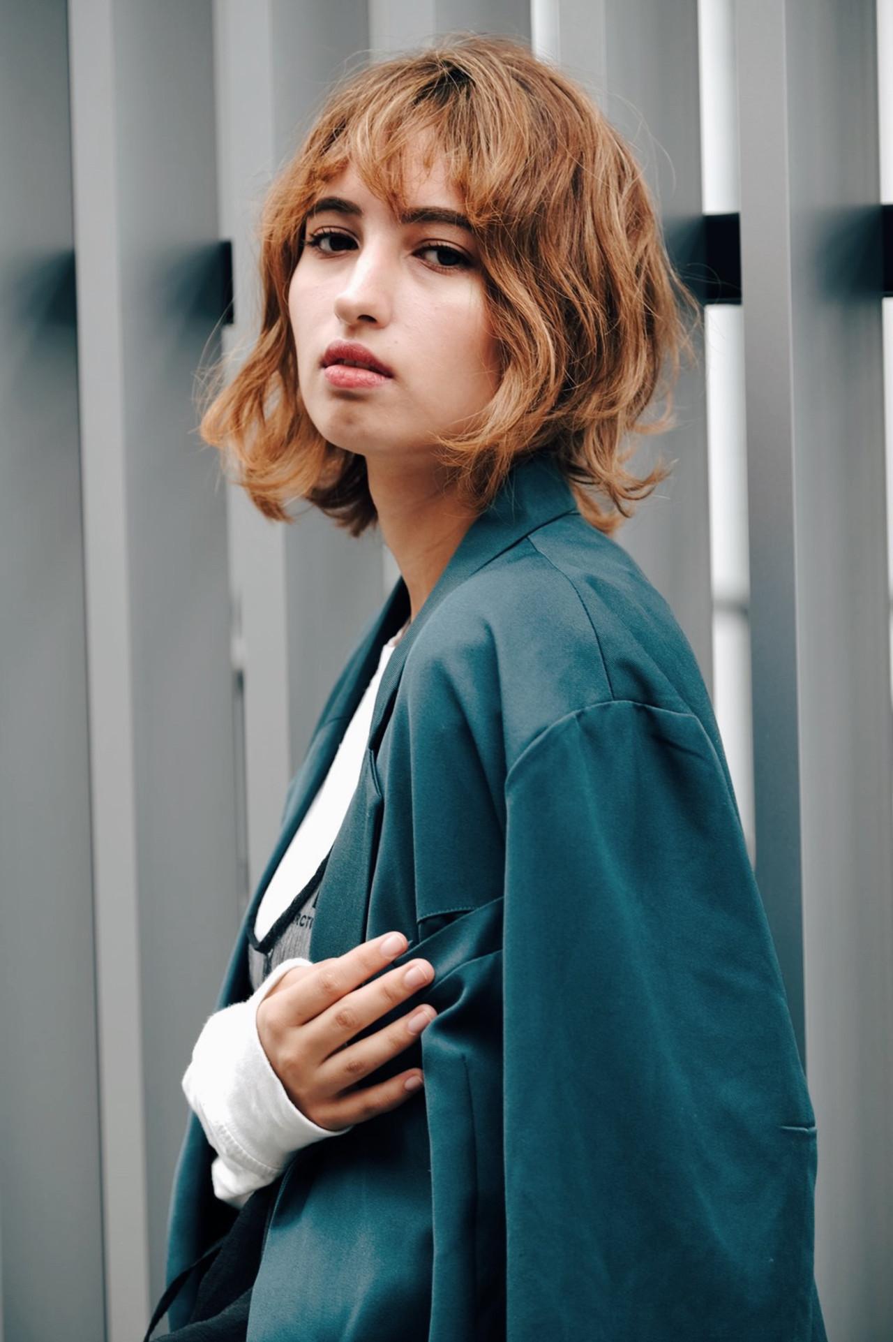 阿藤俊也 セミディ パーマ 巻き髪 ヘアスタイルや髪型の写真・画像