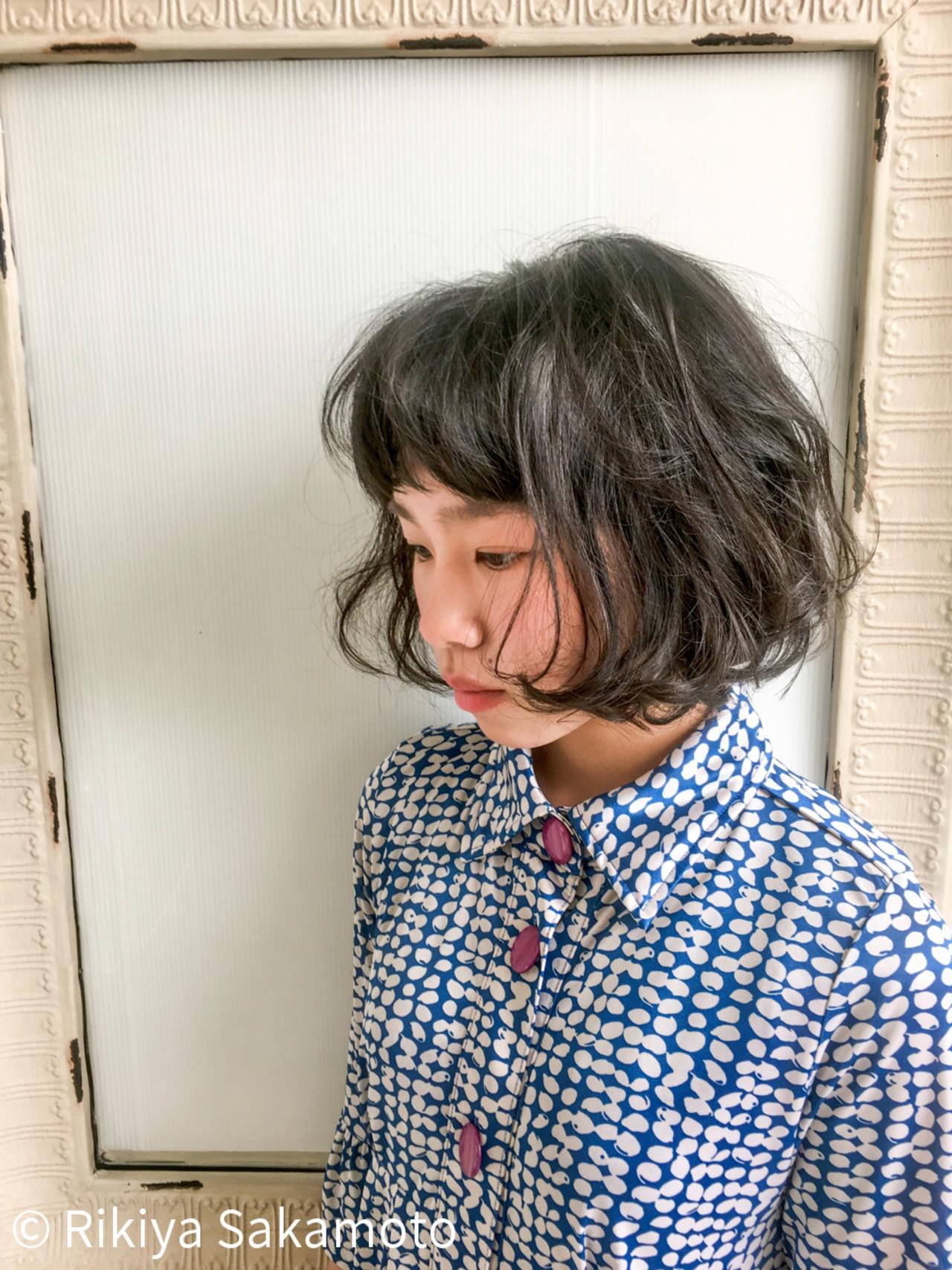 ボブ 外国人風 ショートボブ パーマ ヘアスタイルや髪型の写真・画像 | Rikiya Sakamoto / Seasonal-Lab(旧ディーズガレージ)