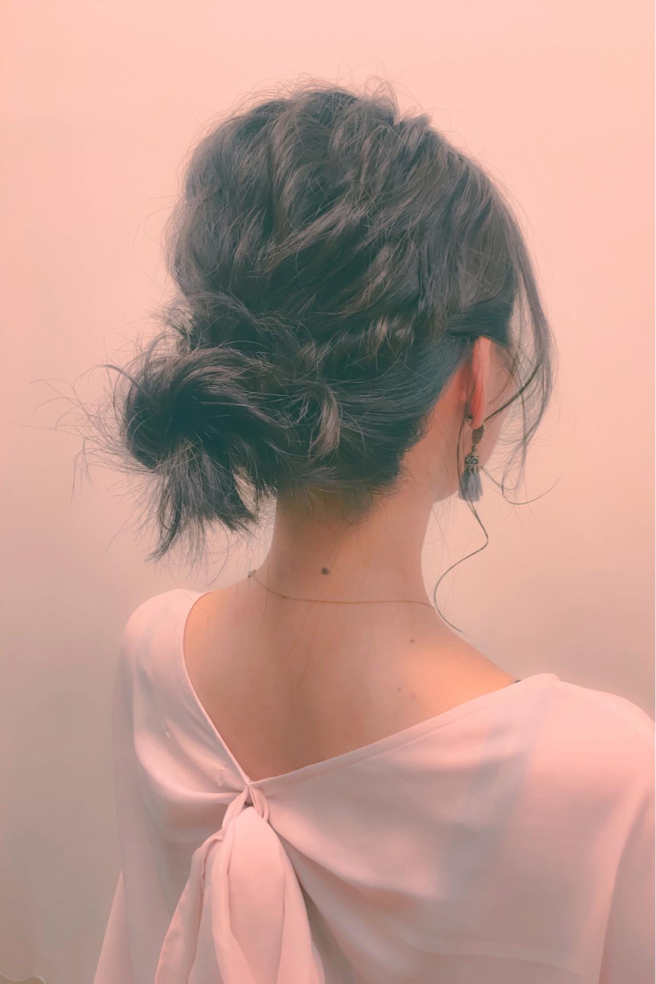 ハーフアップ ショート ヘアアレンジ セミロング ヘアスタイルや髪型の写真・画像   井手口 倫也 / luve heart's And Be+Eclat