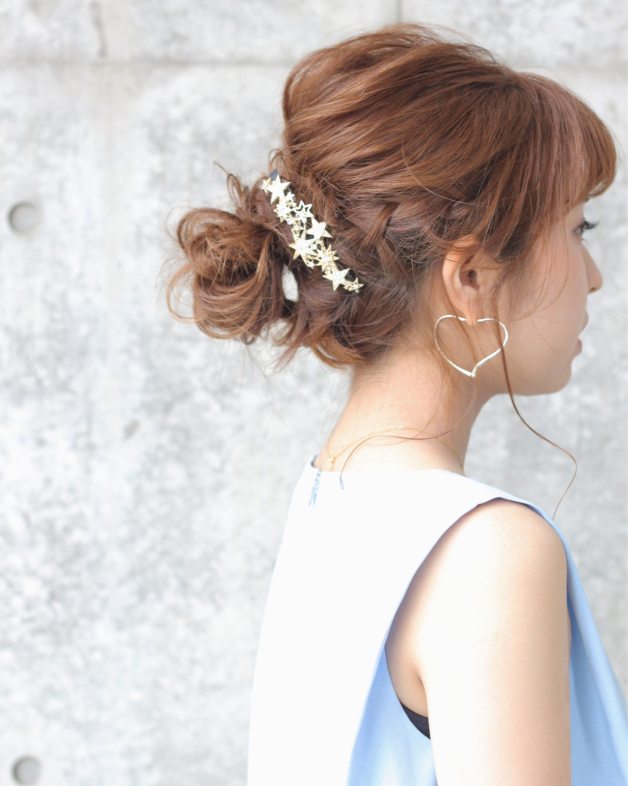 女子会 フェミニン ミディアム 結婚式 ヘアスタイルや髪型の写真・画像