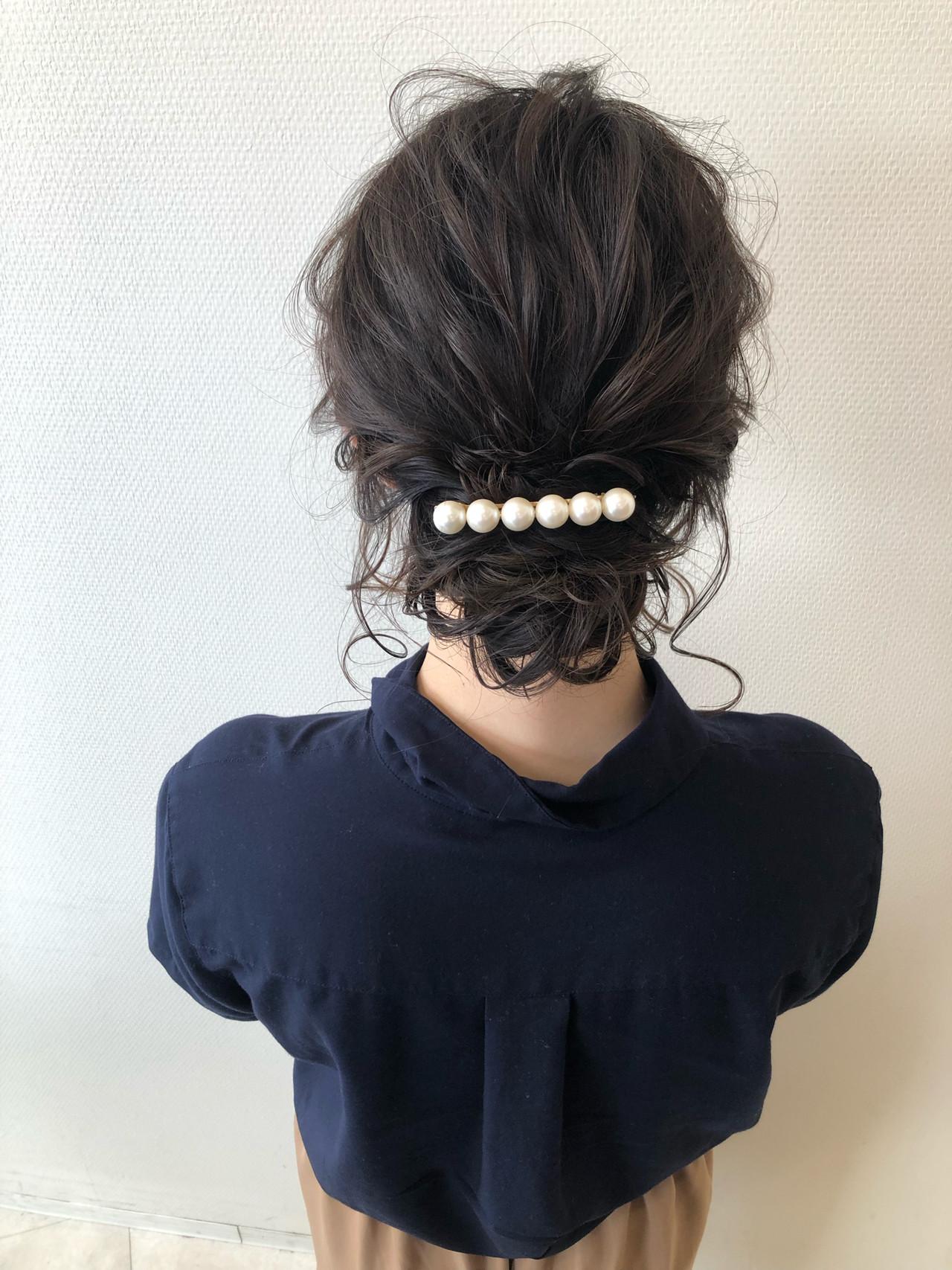ミディアム 結婚式 フェミニン デート ヘアスタイルや髪型の写真・画像