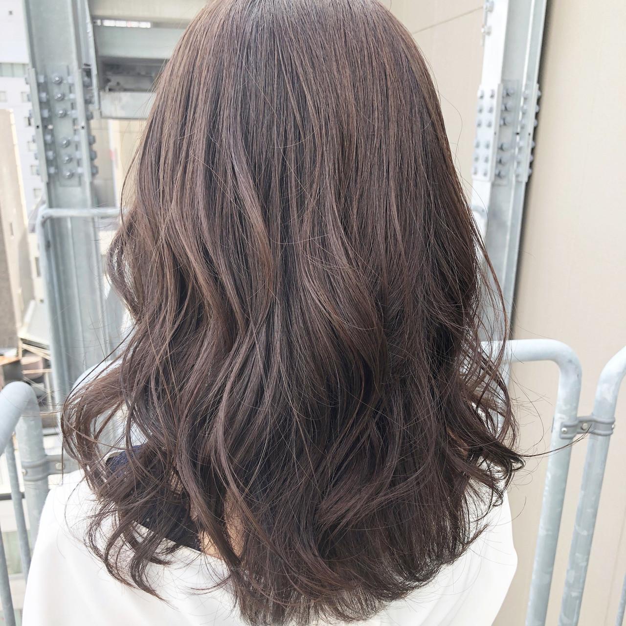 ミディアム ゆるナチュラル ナチュラルベージュ ナチュラル ヘアスタイルや髪型の写真・画像 | 坂本圭太朗 / bado