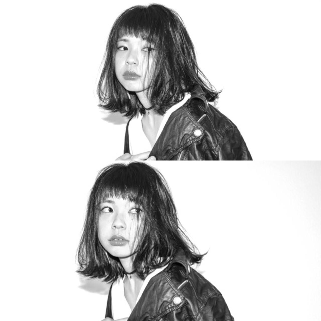 モード パーマ 黒髪 デート ヘアスタイルや髪型の写真・画像