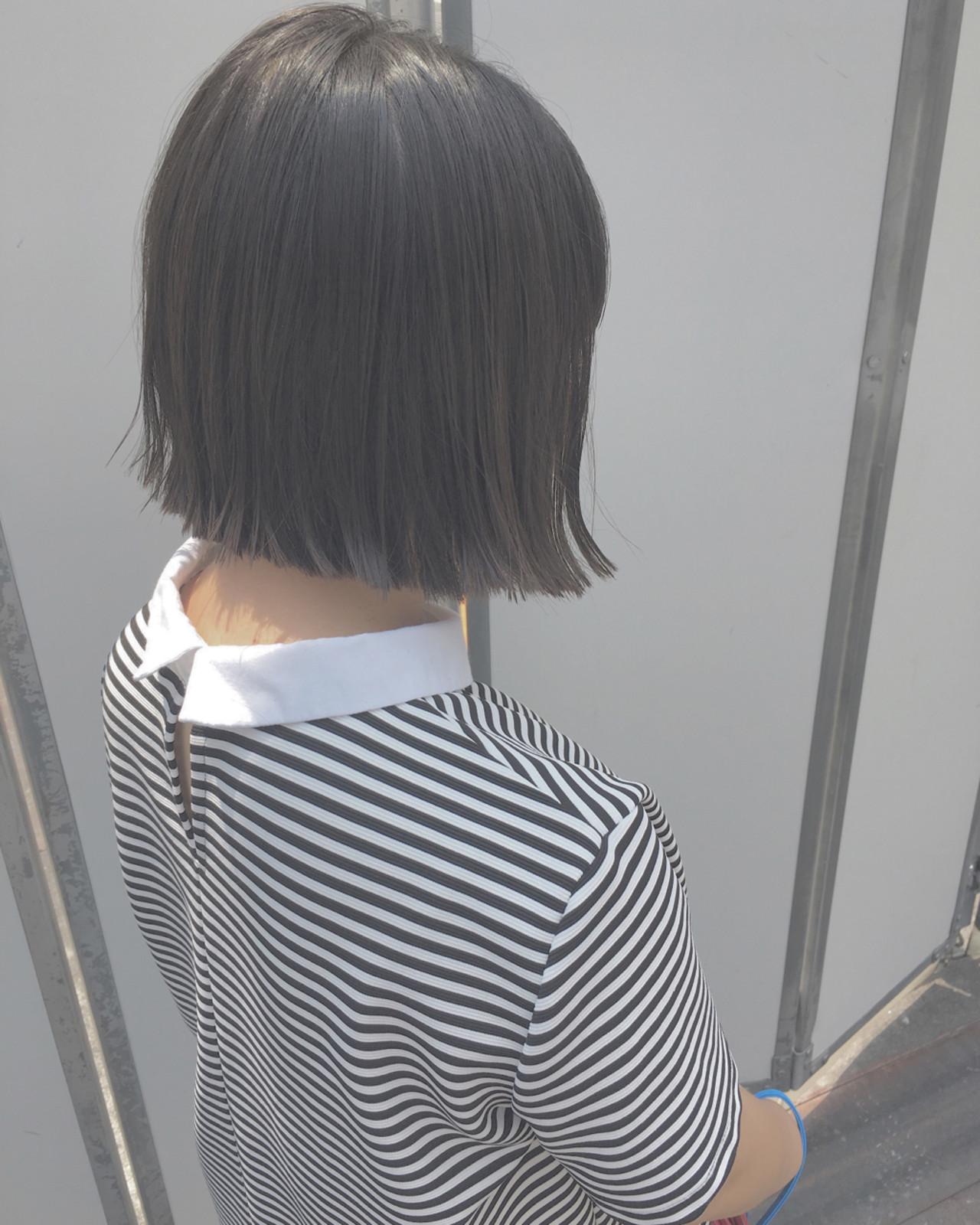ナチュラル 透明感 グレージュ 黒髪 ヘアスタイルや髪型の写真・画像 | 菊地克喜 / CYANDELUCCA