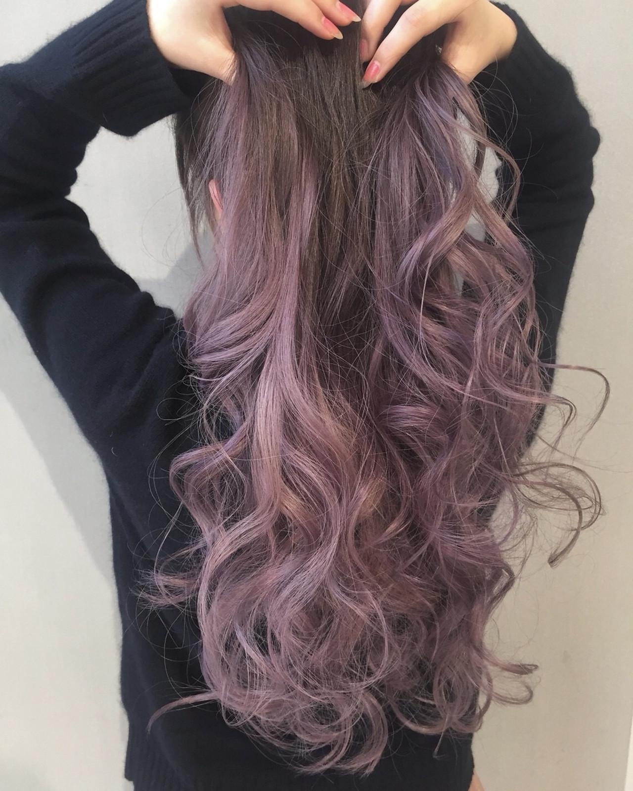 結婚式 ロング ピンクラベンダー ガーリー ヘアスタイルや髪型の写真・画像   ALIVE【阿部 圭悟】 / ALIVE
