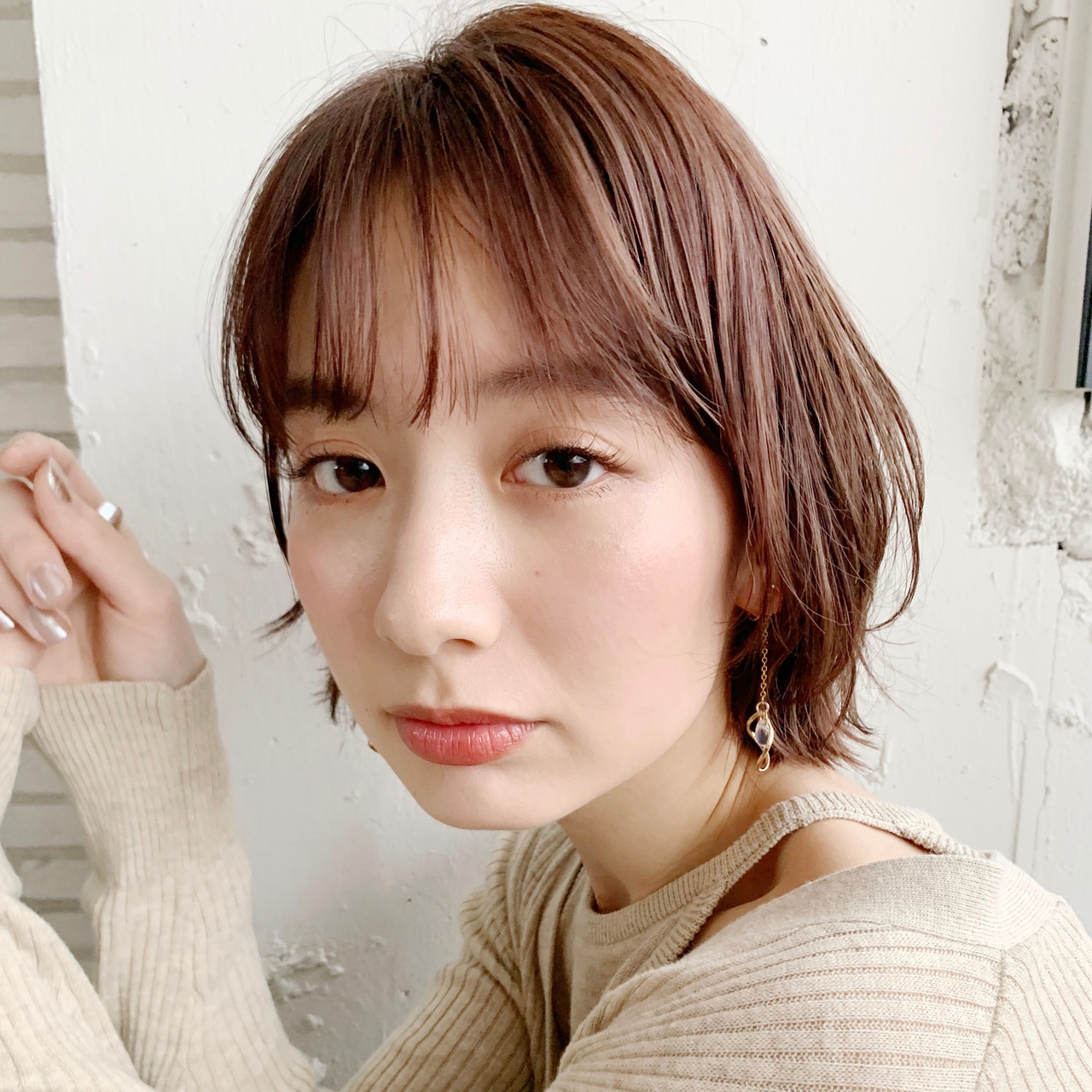 ミニボブ 外ハネボブ ナチュラル ショートボブ ヘアスタイルや髪型の写真・画像 | Natsuko Kodama 児玉奈都子 / dydi