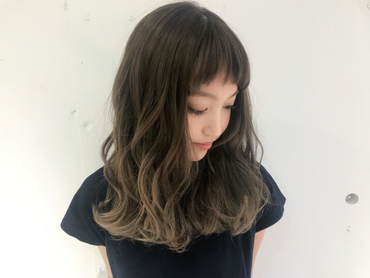 グレージュ 外国人風カラー 外国人風 モード ヘアスタイルや髪型の写真・画像