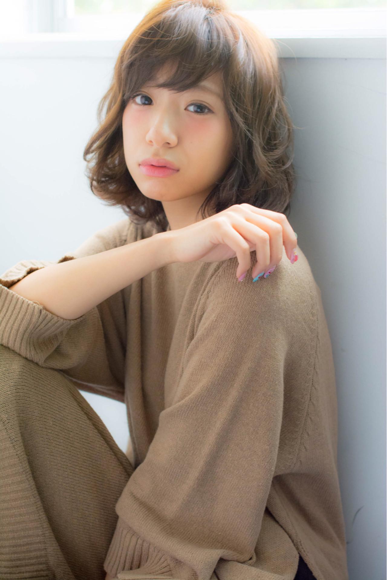 ナチュラル 大人かわいい 外国人風 抜け感 ヘアスタイルや髪型の写真・画像 | 矢井 一輝 / Rr. hair salon Nagoya
