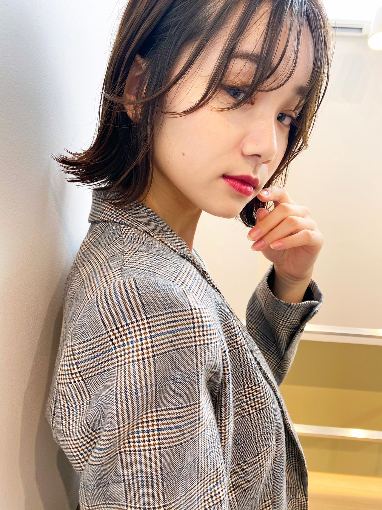 アッシュグレージュ  グレージュ デジタルパーマ ヘアスタイルや髪型の写真・画像