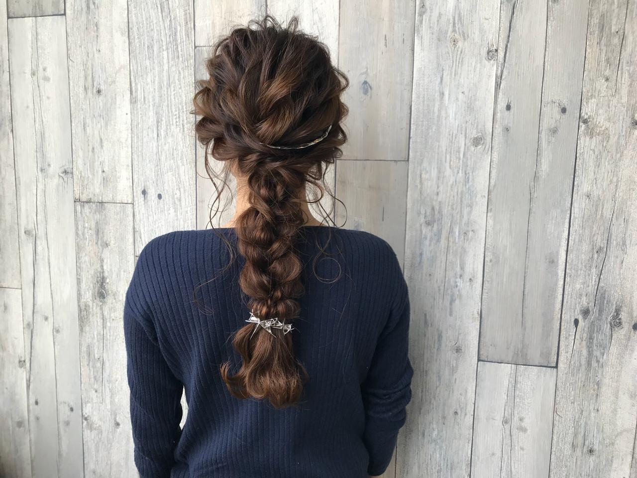 イルミナカラー ナチュラル 結婚式 編み込み ヘアスタイルや髪型の写真・画像 | 宇渡 裕一 / Lillie hair&spa