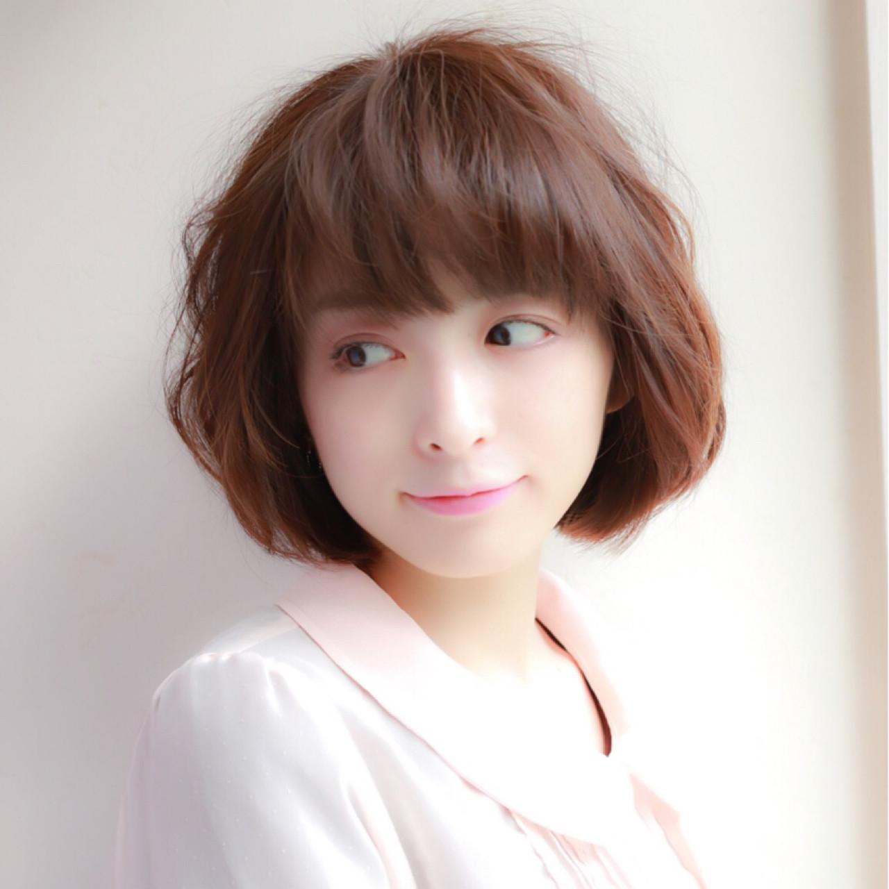 ボブ 大人女子 大人かわいい かわいい ヘアスタイルや髪型の写真・画像