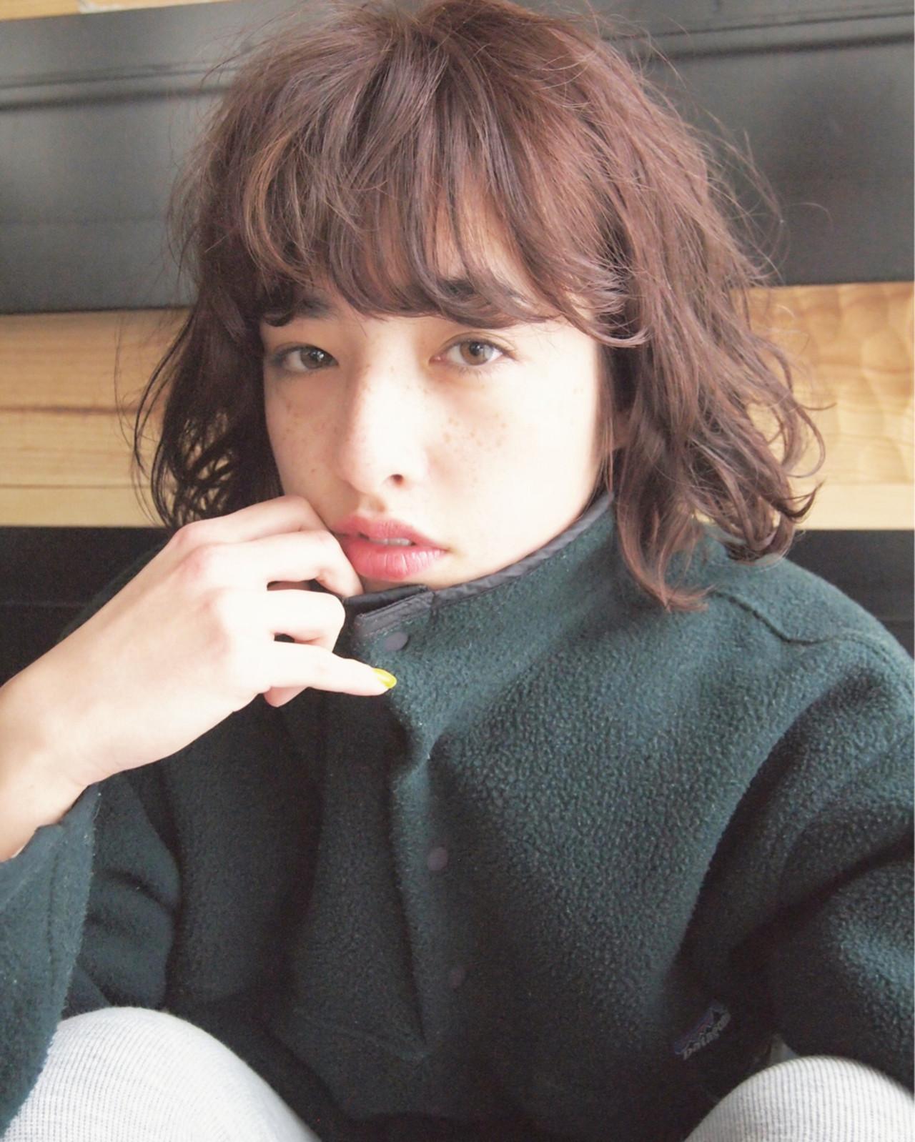 大人女子 ボブ 小顔 外国人風 ヘアスタイルや髪型の写真・画像 | UEKI/nanuk / nanuk二子玉川