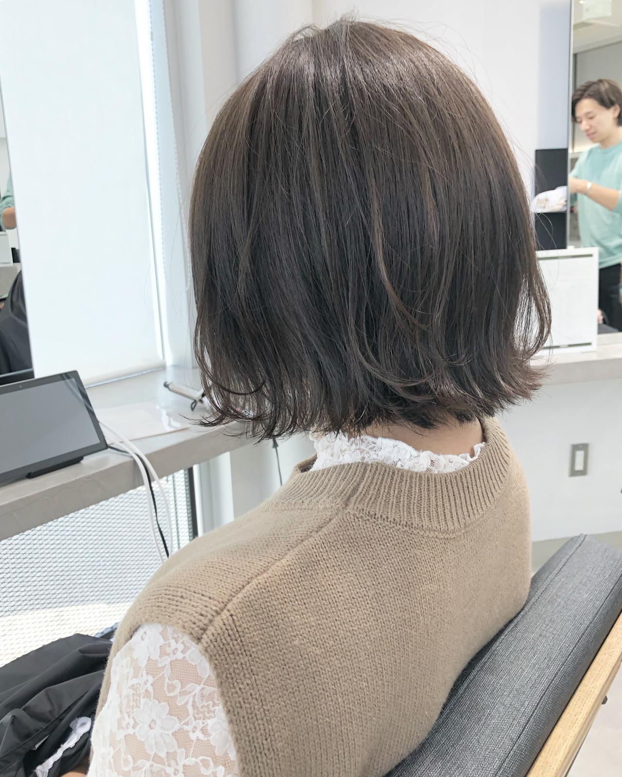 切りっぱなしボブ ミニボブ ショートボブ ボブ ヘアスタイルや髪型の写真・画像 | 市岡 久 / BLANCOtres