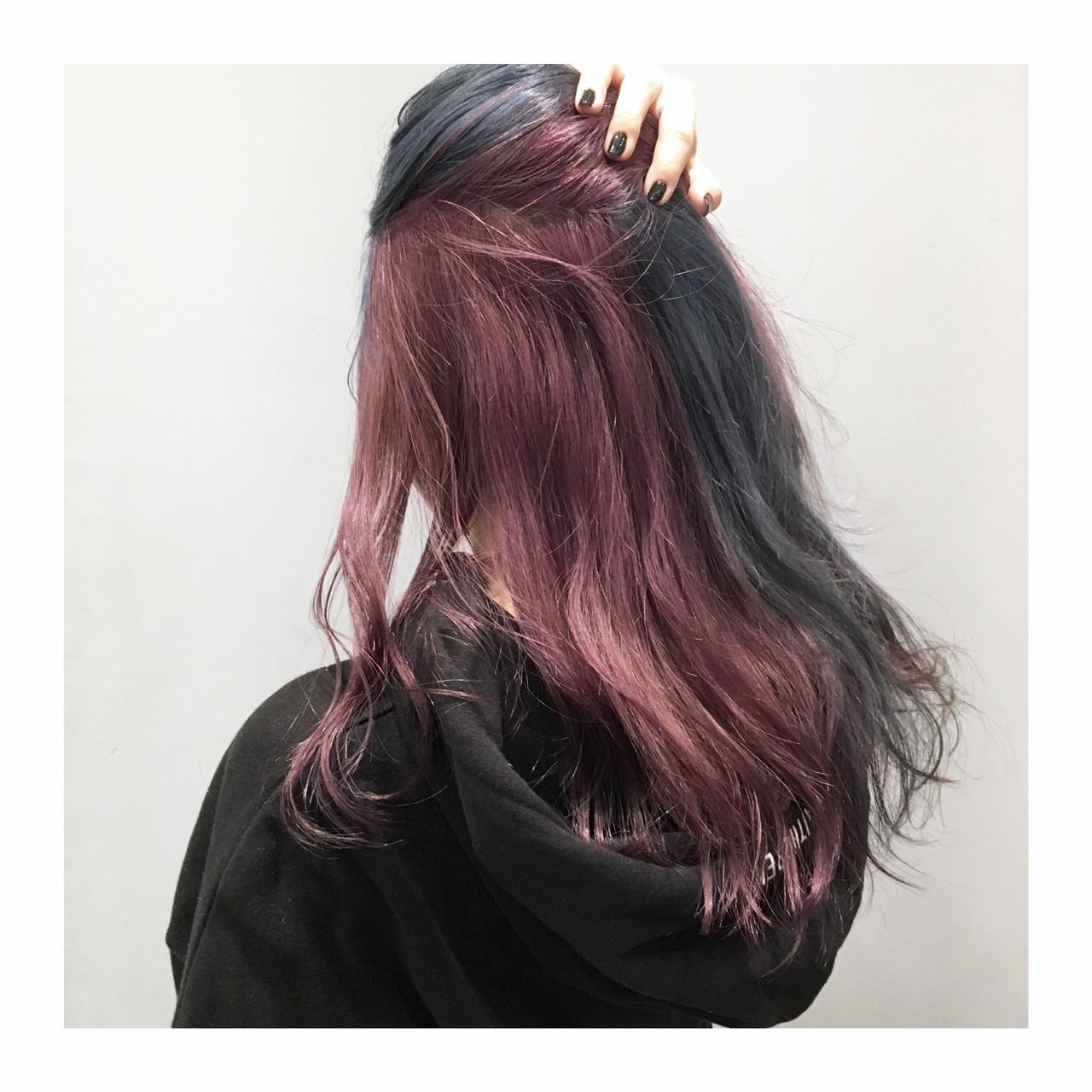 シルバー ロング ブルー ストリート ヘアスタイルや髪型の写真・画像 | Daichi shimazu / hairsalon M 新宿