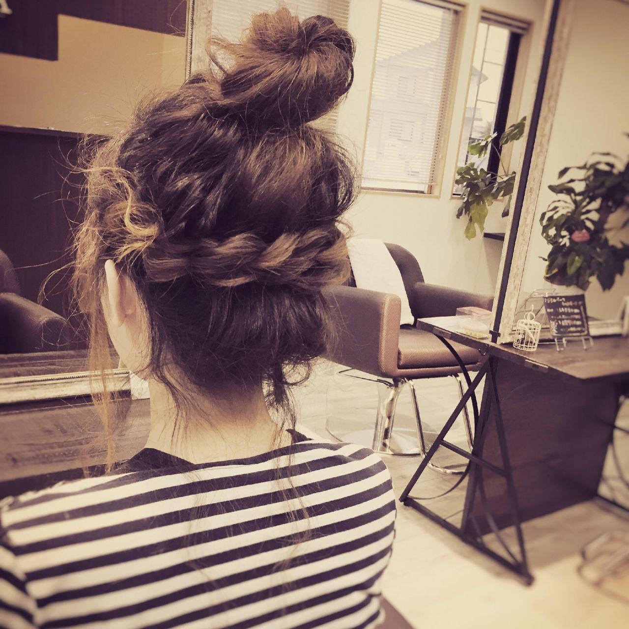 モテ髪 お団子 ヘアアレンジ コンサバ ヘアスタイルや髪型の写真・画像