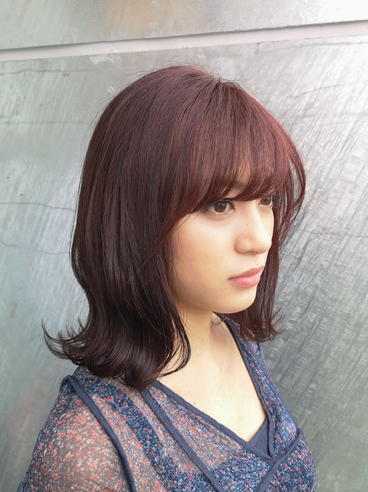 ミディアム 大人かわいい ガーリー デート ヘアスタイルや髪型の写真・画像