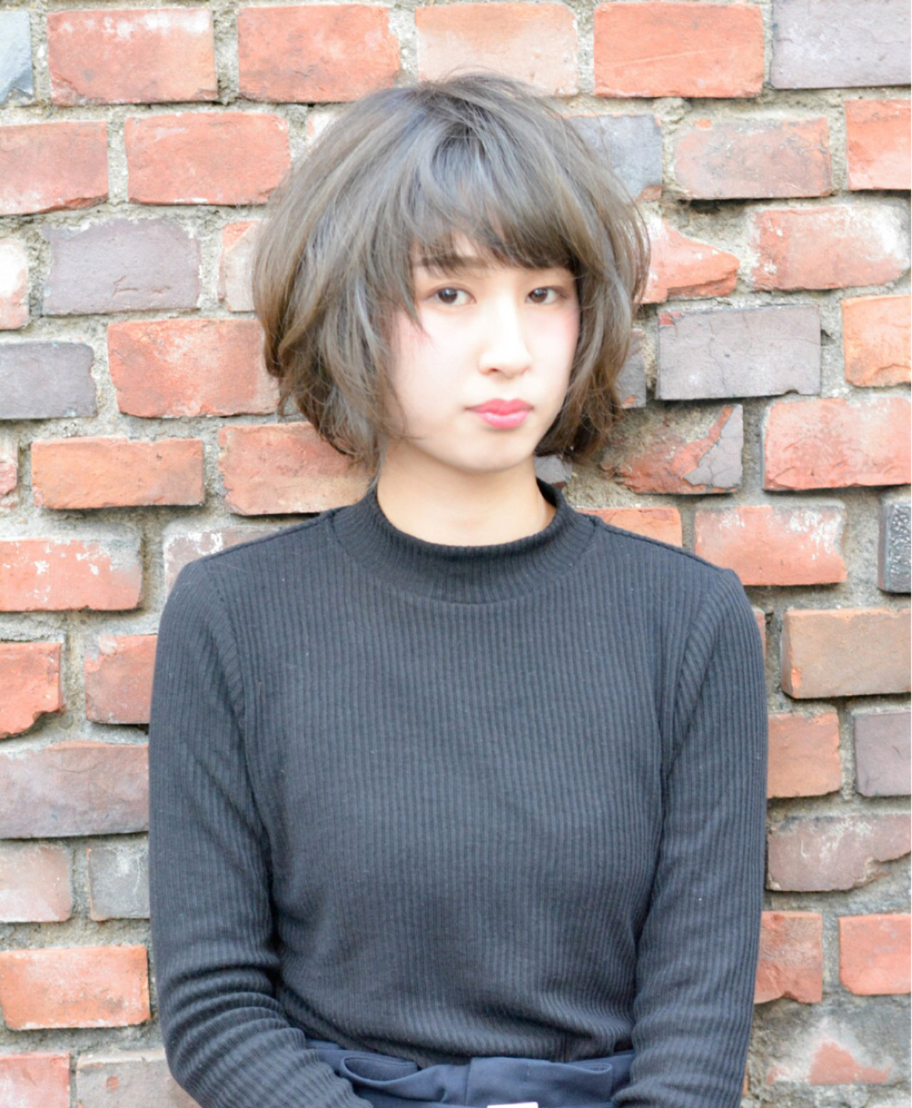 アッシュ 色気 冬 ナチュラル ヘアスタイルや髪型の写真・画像