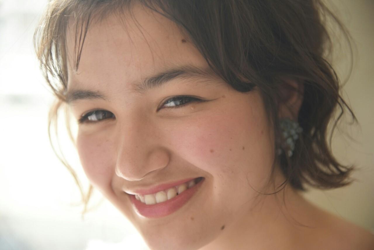 ショート 外国人風 ナチュラル ヘアアレンジ ヘアスタイルや髪型の写真・画像 | 山口 華絵 Lépés Nakameguro / Lépés