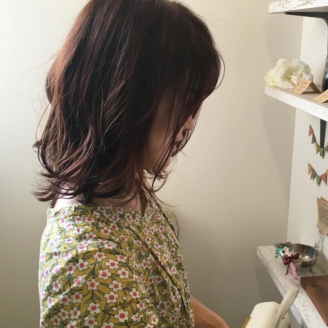 秋 外ハネ 女子力 ウェーブ ヘアスタイルや髪型の写真・画像 | 原田あゆみ / coquille/コキーユ