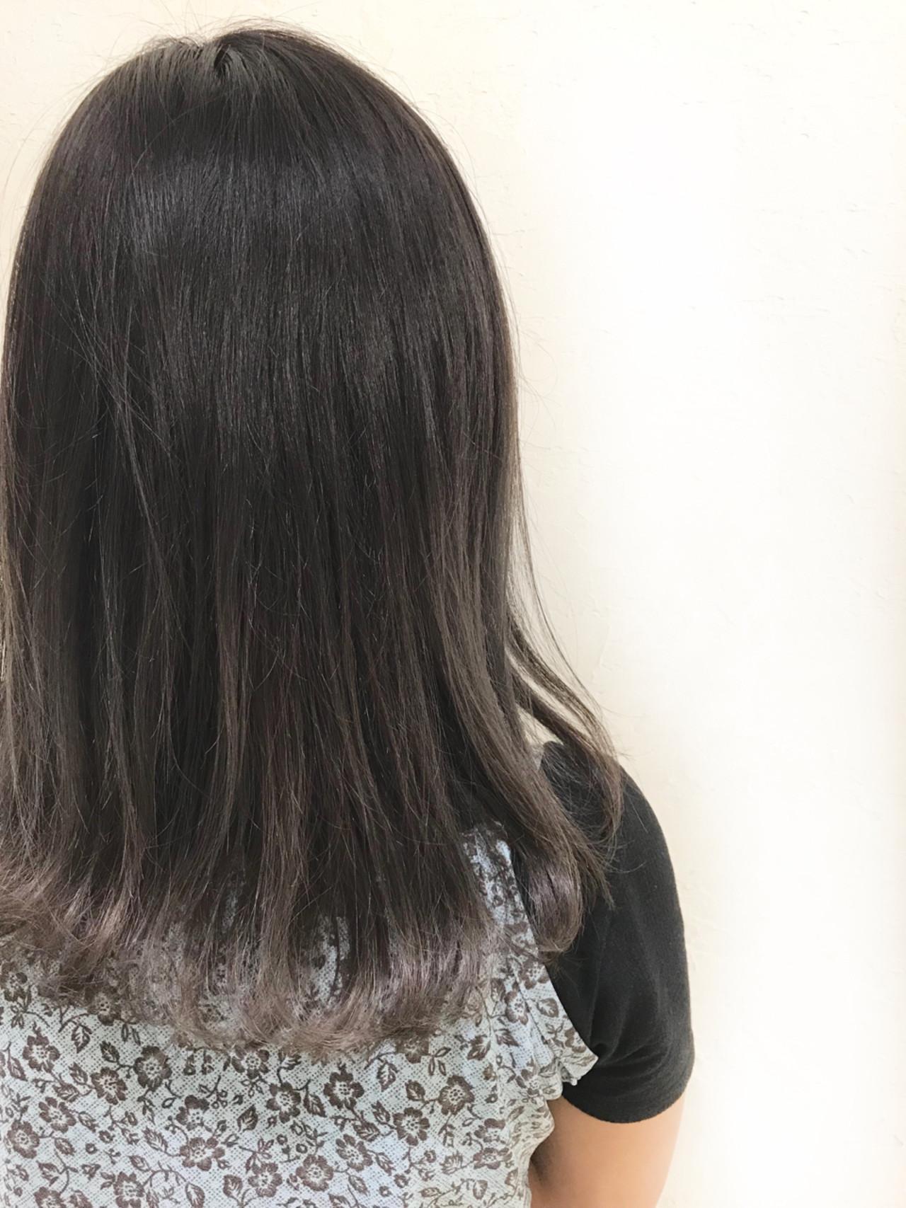 女子力 ダブルカラー ミディアム 無造作 ヘアスタイルや髪型の写真・画像