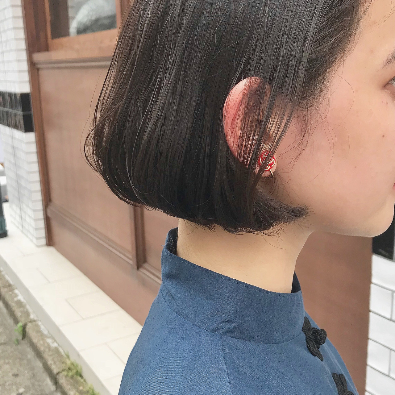デート ナチュラル 黒髪 スポーツ ヘアスタイルや髪型の写真・画像