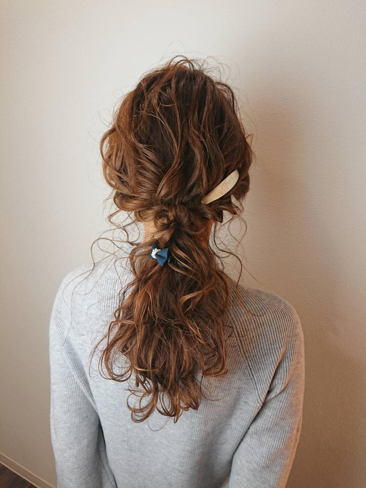 ロング ヘアアレンジ ゆるふわ 編みおろしヘア ヘアスタイルや髪型の写真・画像 | 成田 幸徳 / ActioN hair