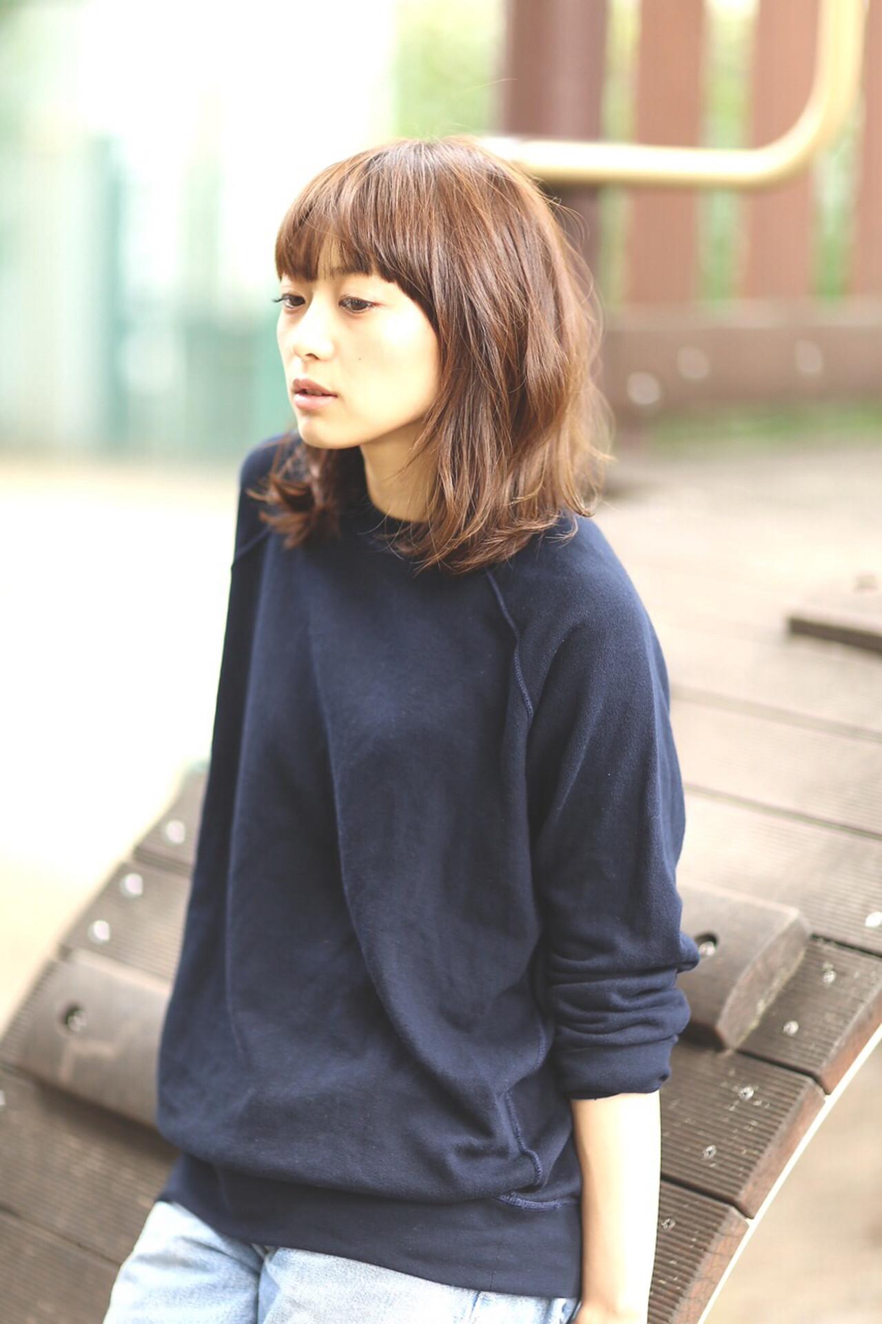 アッシュ 大人女子 ボブ ミディアム ヘアスタイルや髪型の写真・画像 | junya / hair.andrey