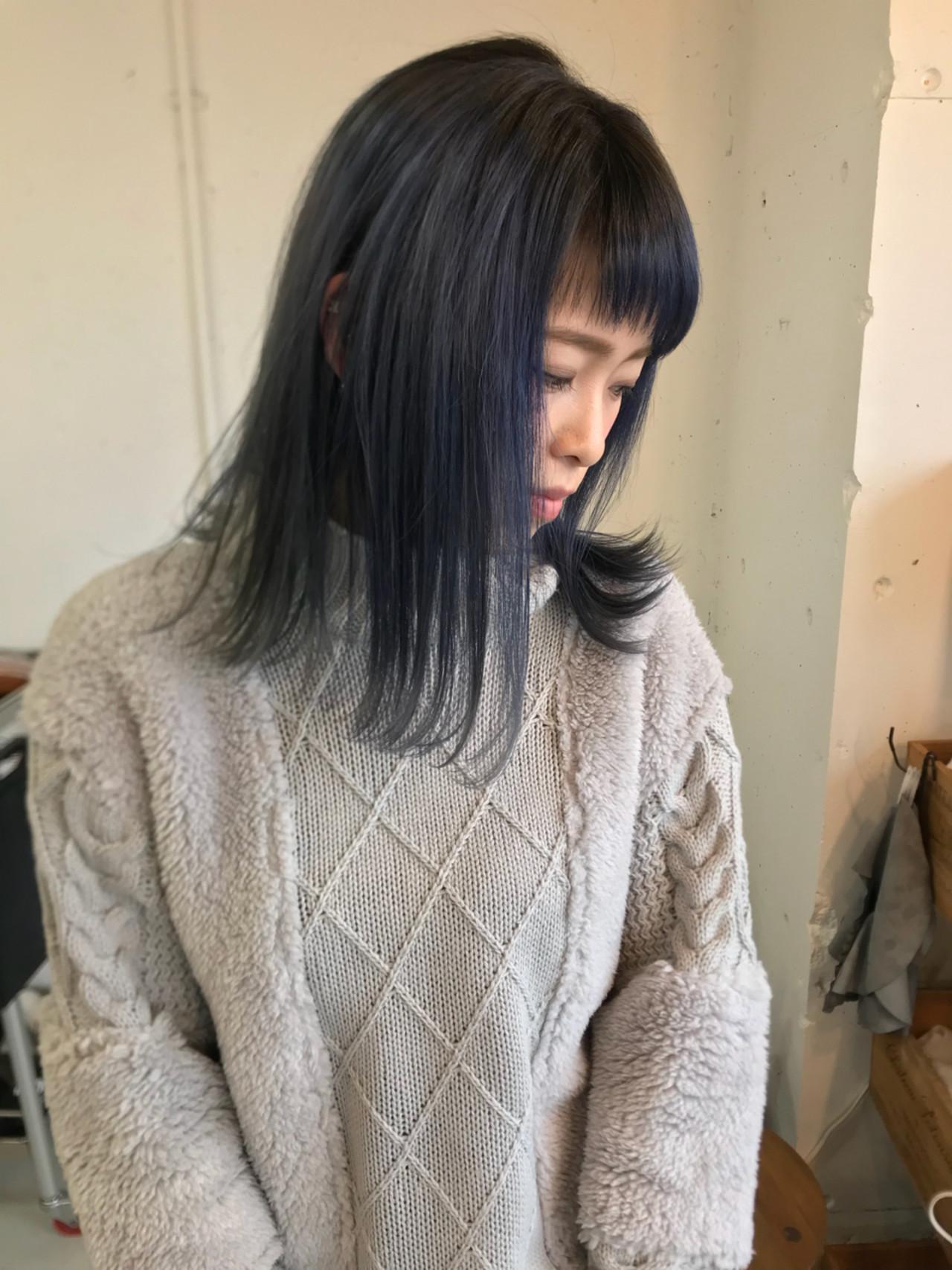 ゆるふわ ミディアム 外国人風カラー ストリート ヘアスタイルや髪型の写真・画像