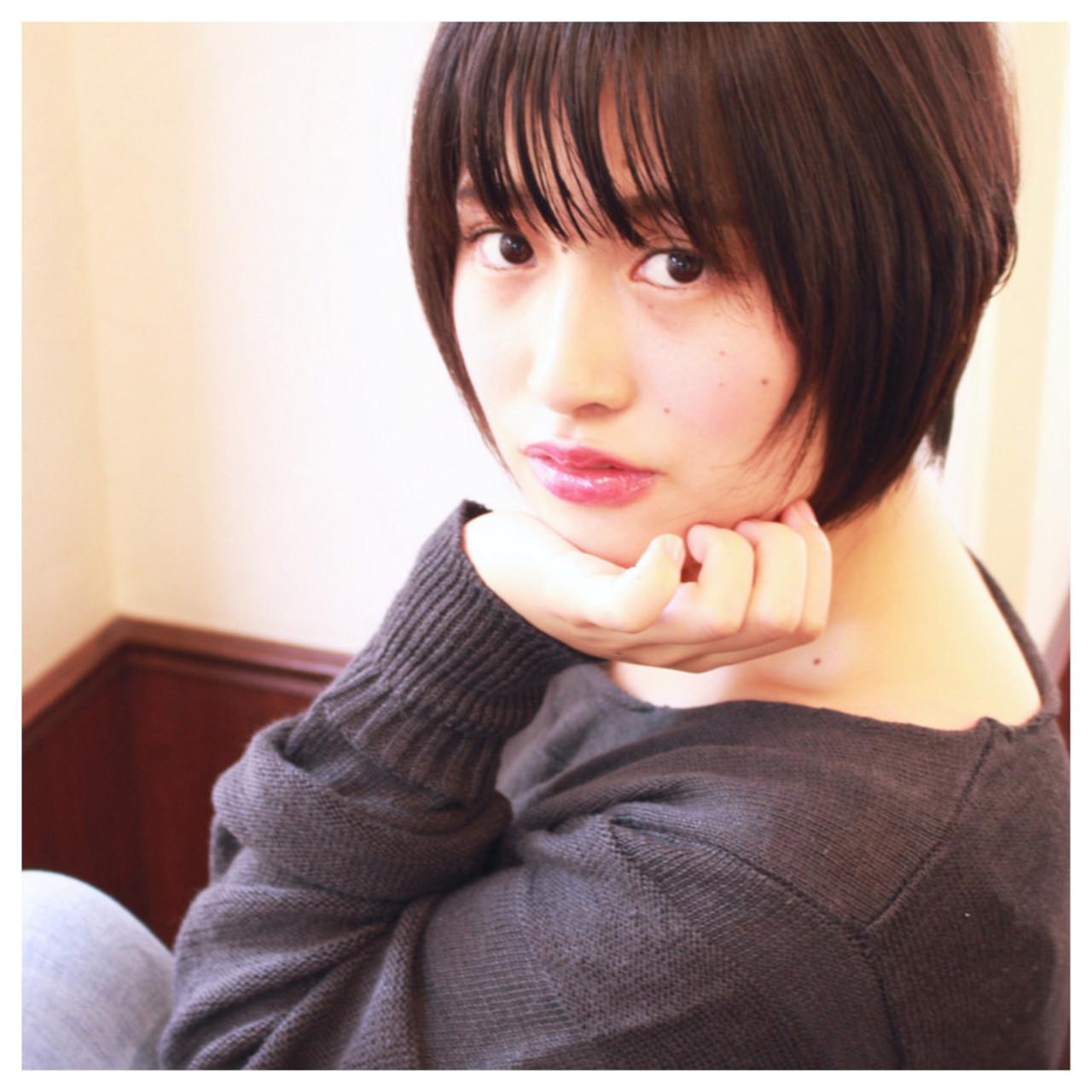 大人かわいい 前髪あり 暗髪 色気 ヘアスタイルや髪型の写真・画像