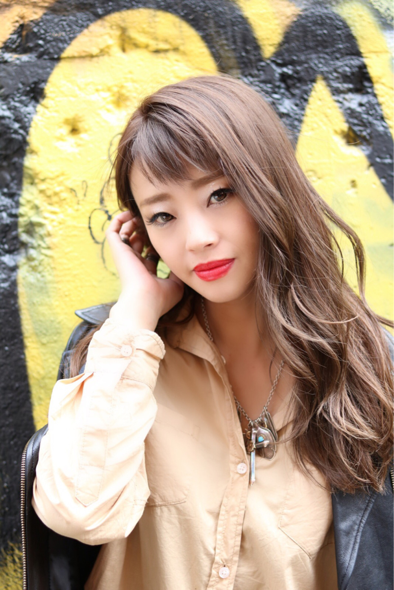 小顔 ロング こなれ感 ストリート ヘアスタイルや髪型の写真・画像 | 及川翔 / CIEL hair salon